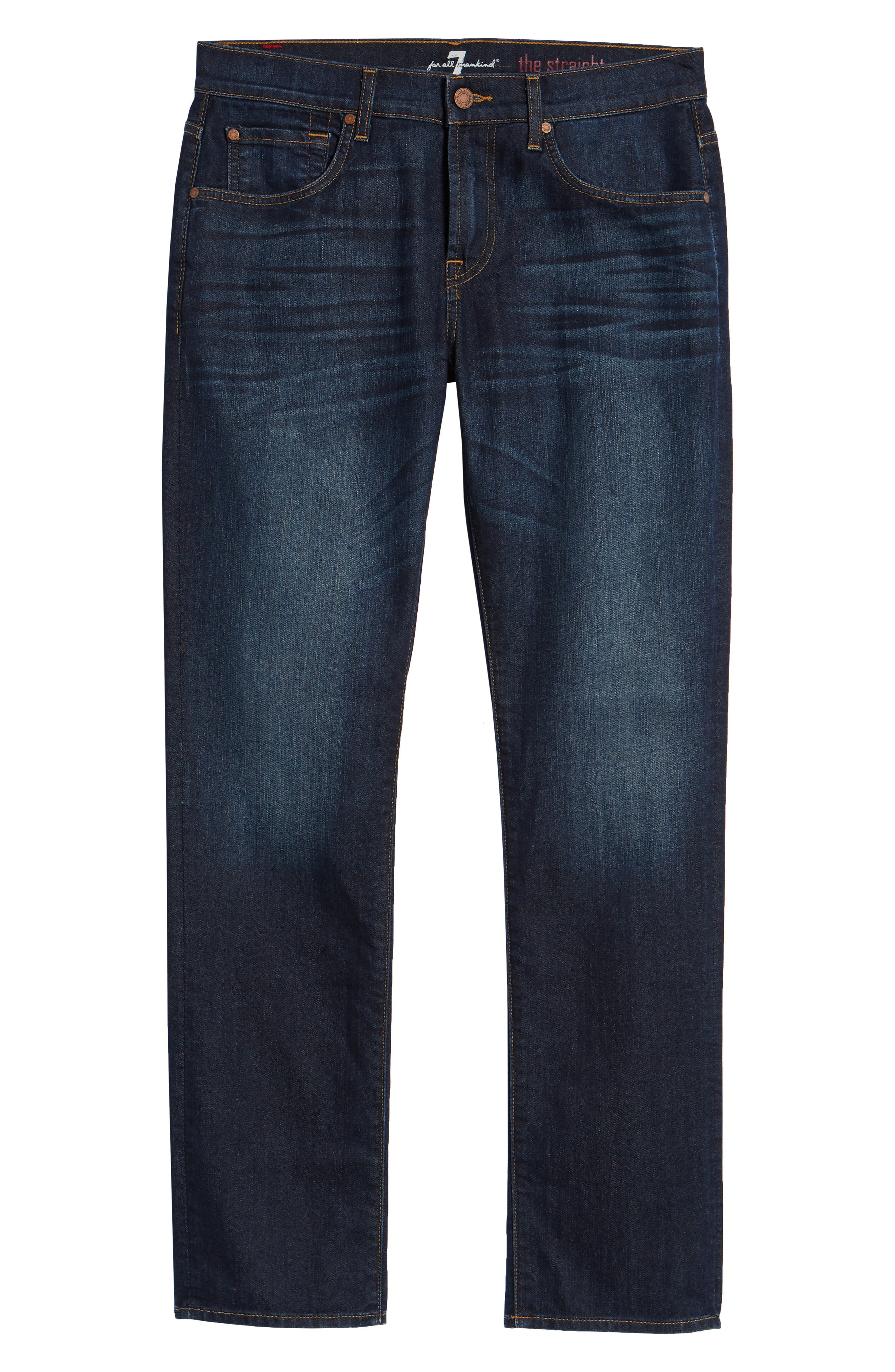 7 FOR ALL MANKIND<SUP>®</SUP>, The Straight Airweft Slim Straight Leg Jeans, Alternate thumbnail 2, color, 400