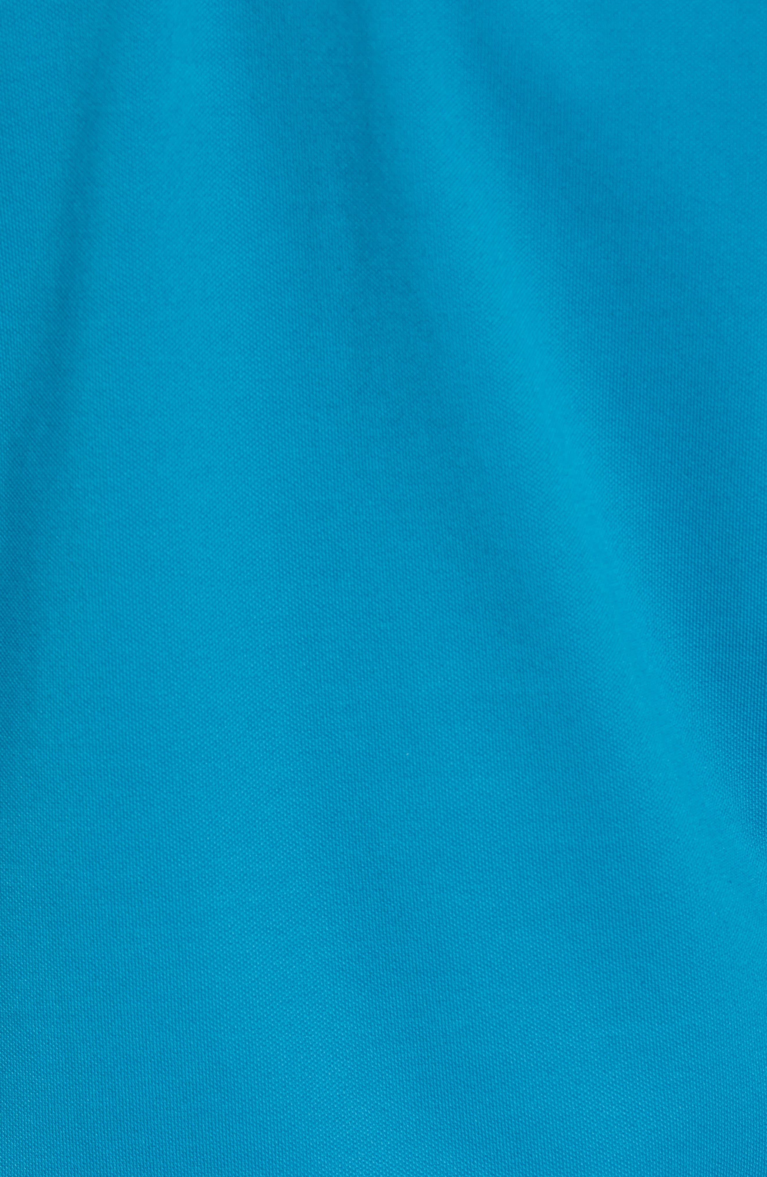 CUTTER & BUCK, Advantage Regular Fit DryTec Mock Neck Pullover, Alternate thumbnail 5, color, TEAL BLUE