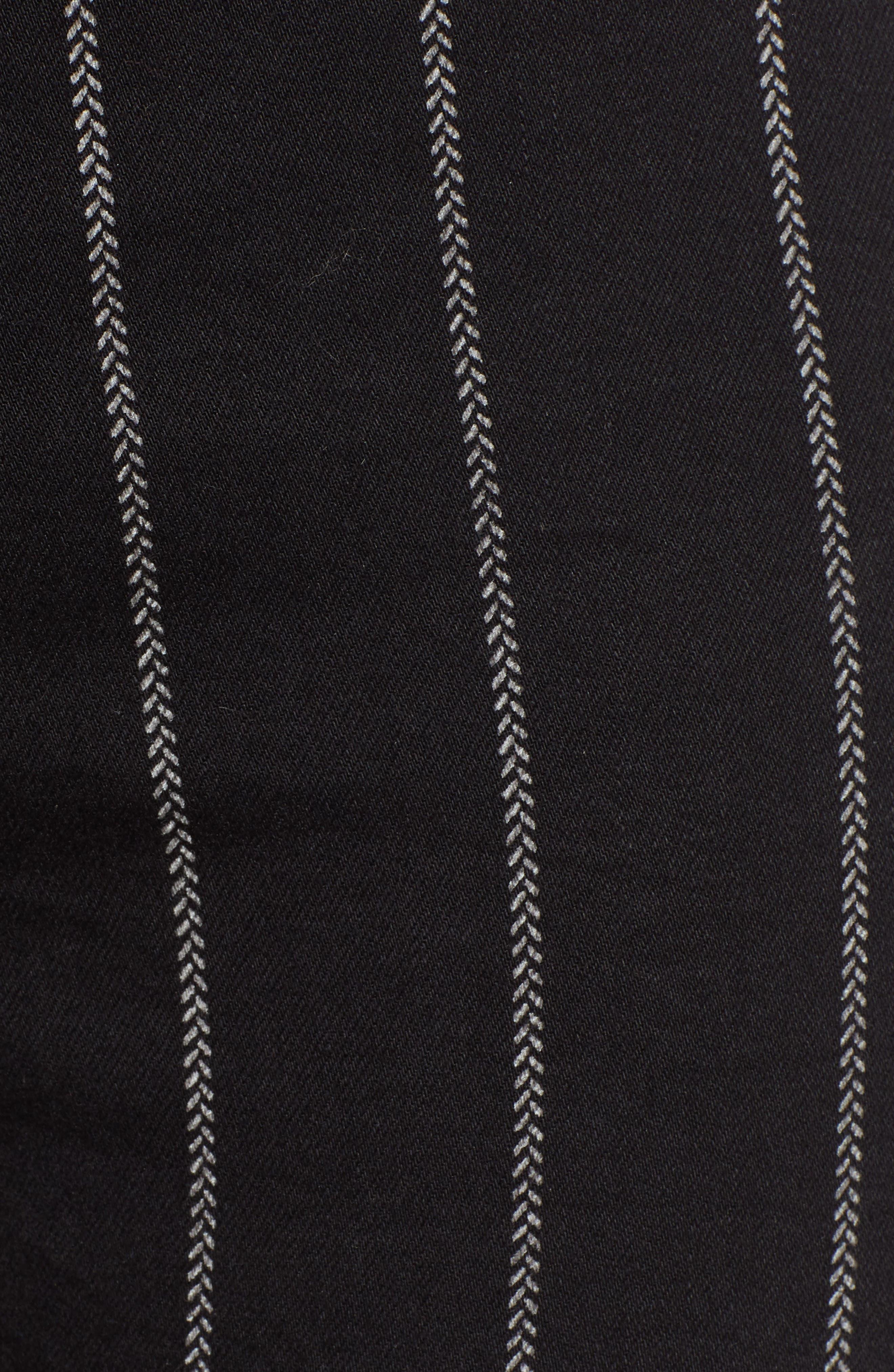 TINSEL, Stripe High Rise Skinny Jeans, Alternate thumbnail 6, color, 001