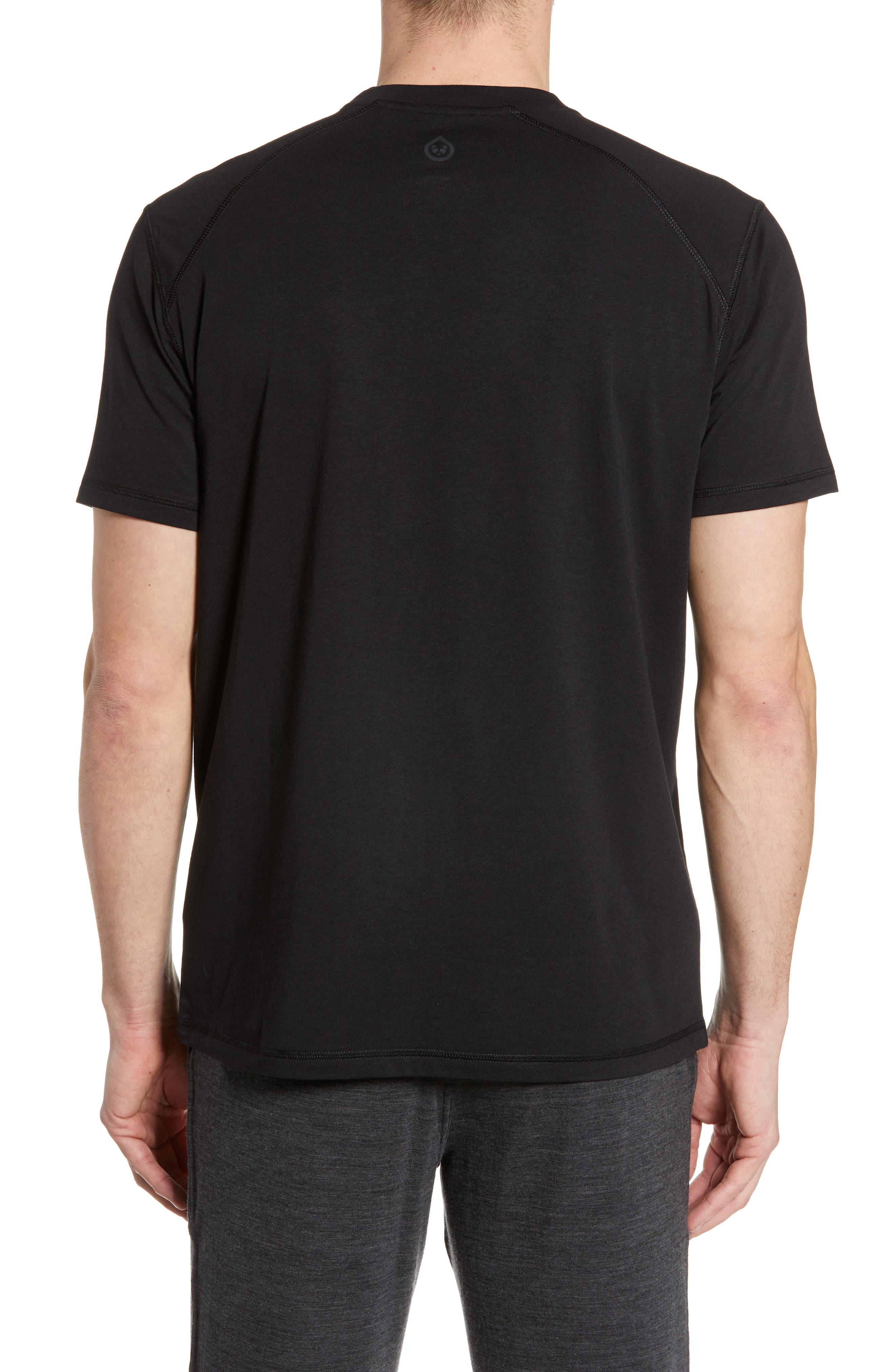 TASC PERFORMANCE, Carrollton T-Shirt, Alternate thumbnail 2, color, BLACK
