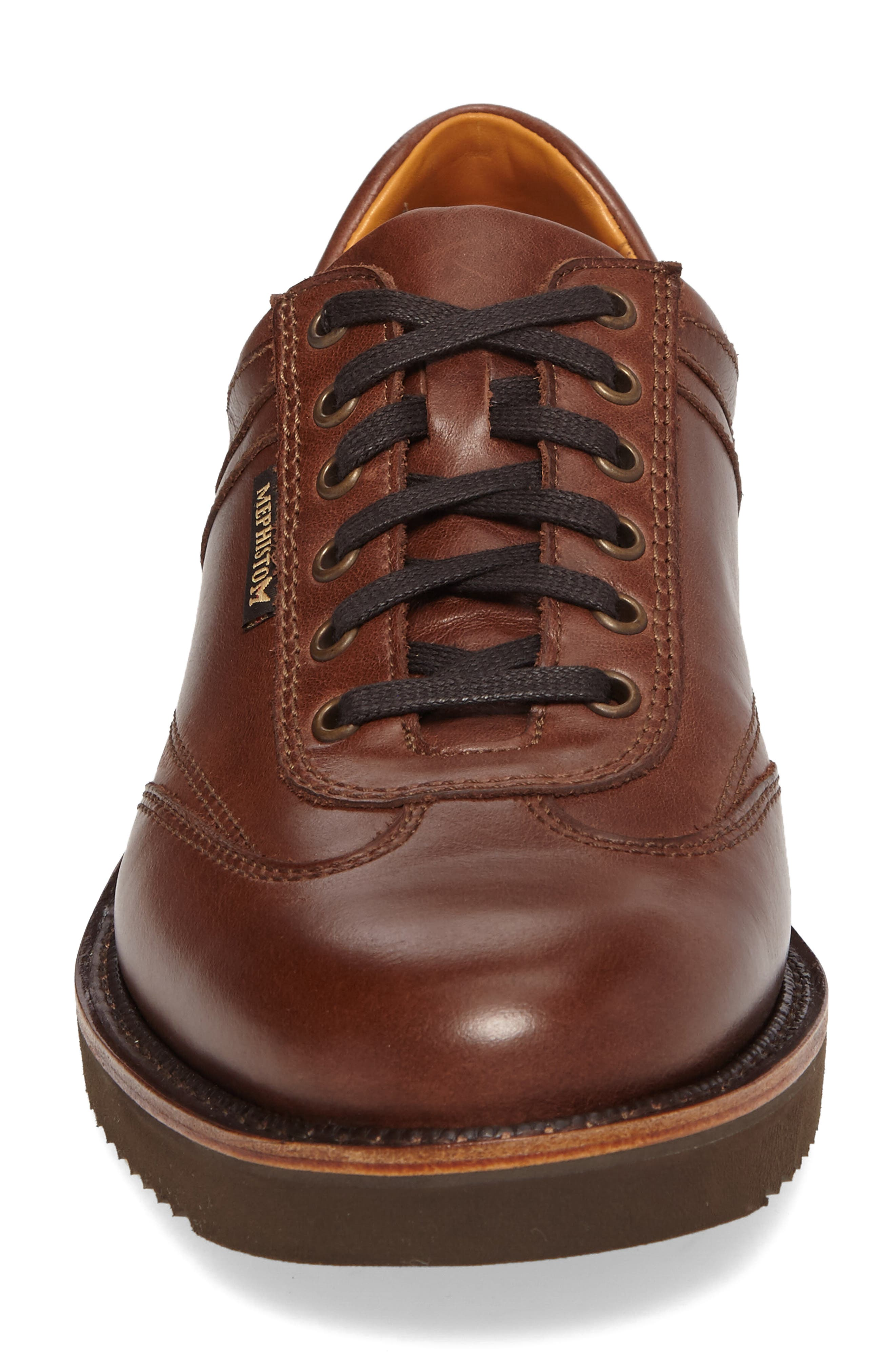 MEPHISTO, Adriano Sneaker, Alternate thumbnail 4, color, CHESTNUT LEATHER