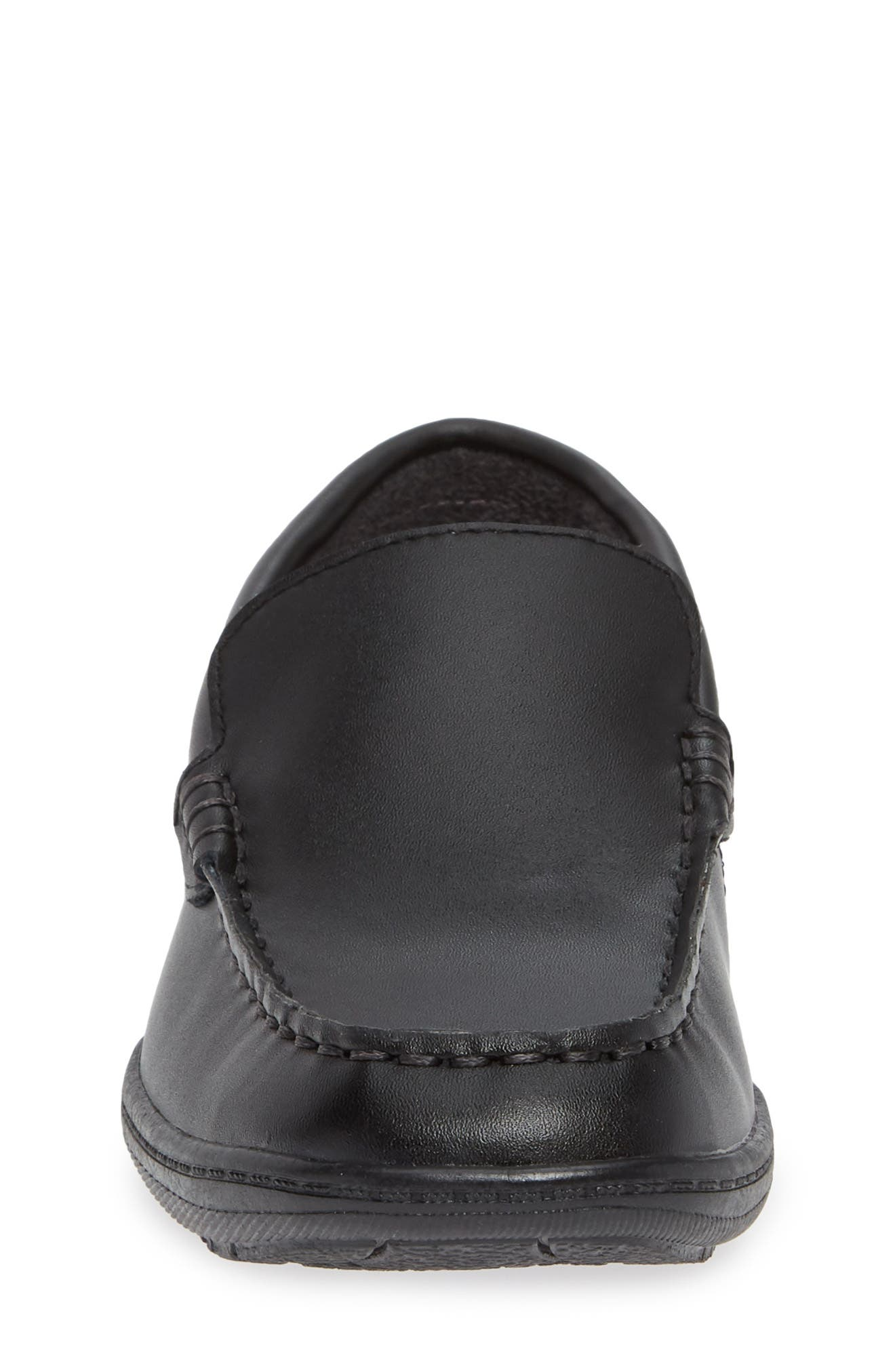 REACTION KENNETH COLE, Driving Dime Moccasin, Alternate thumbnail 4, color, DARK BLACK LEATHER
