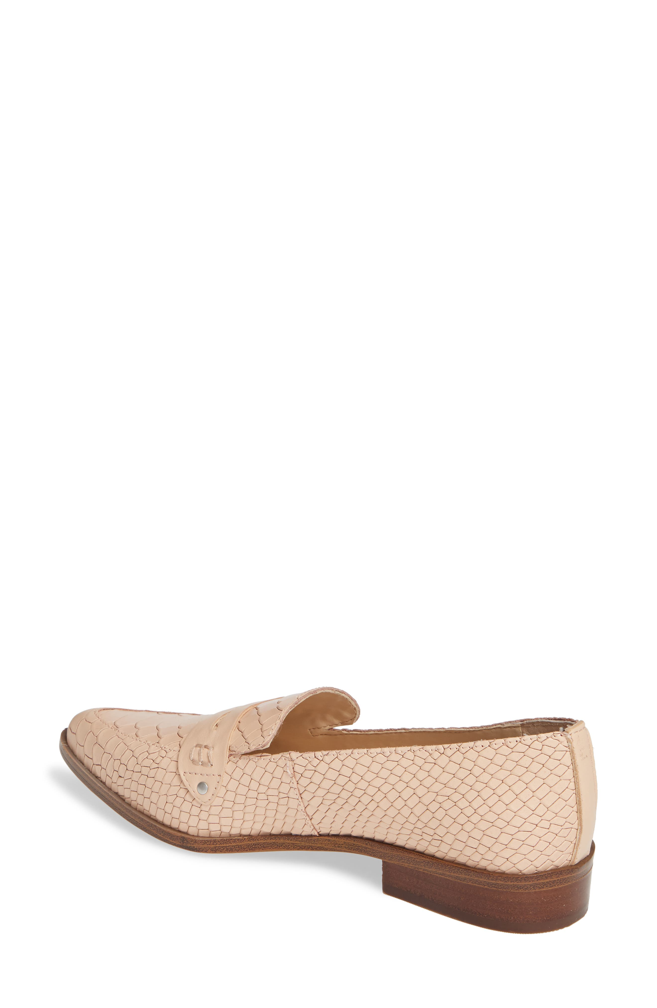 SOLE SOCIETY, Jessica Smoking Slipper, Alternate thumbnail 2, color, BISQUE LEATHER