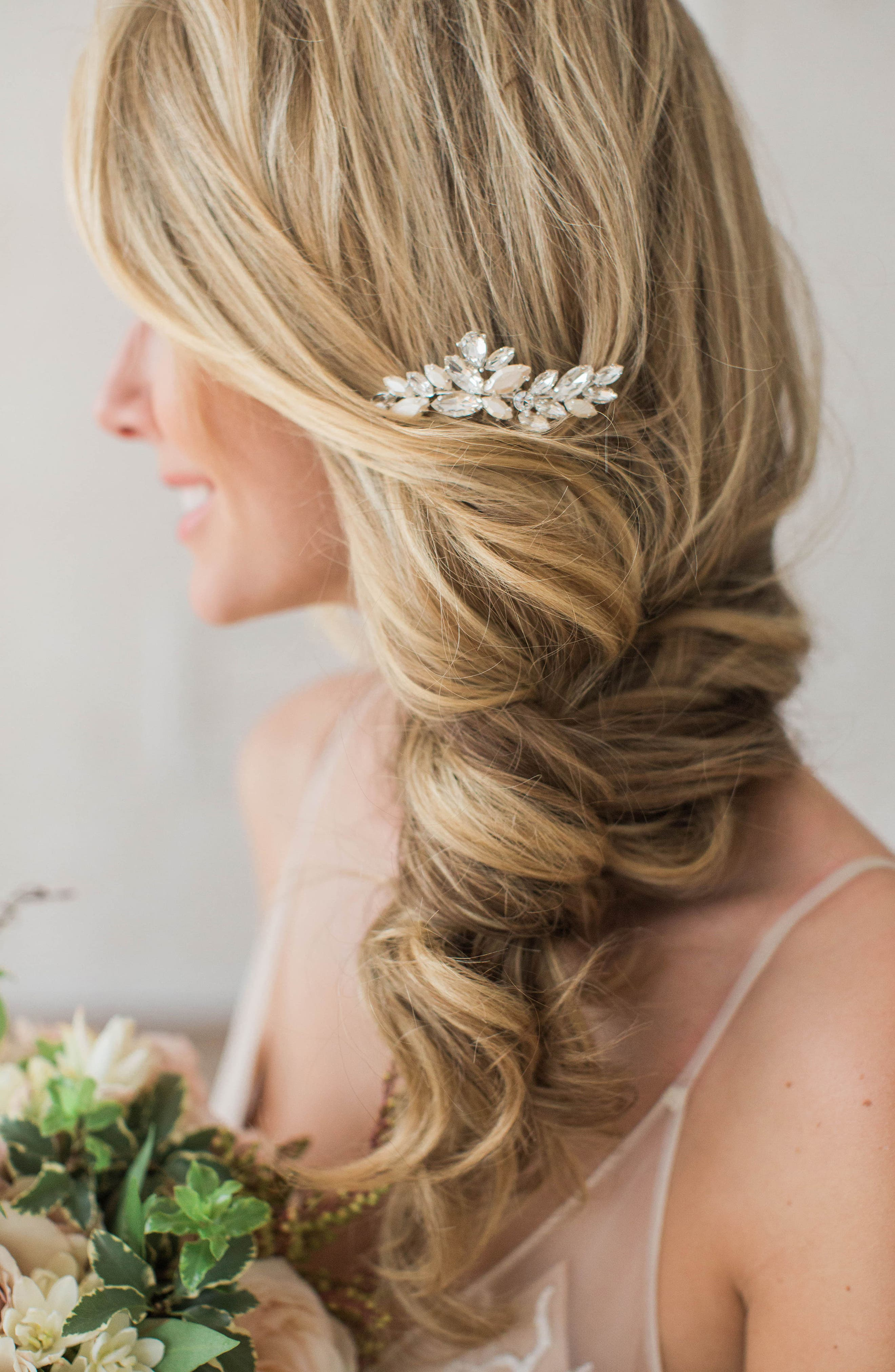 BRIDES & HAIRPINS, Abril Comb, Alternate thumbnail 7, color, CLASSIC SILVER
