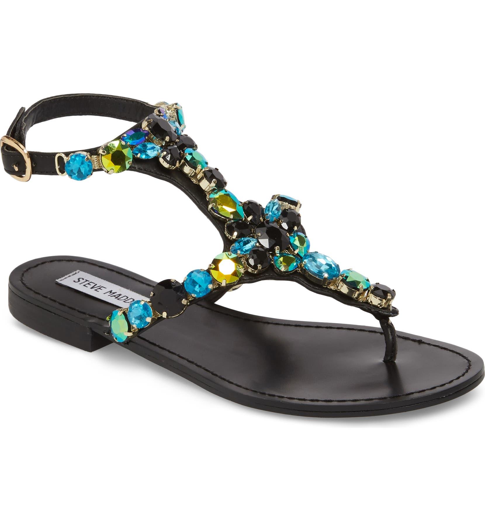 0338f684affd Steve Madden Chantel Crystal Embellished Sandal (Women)