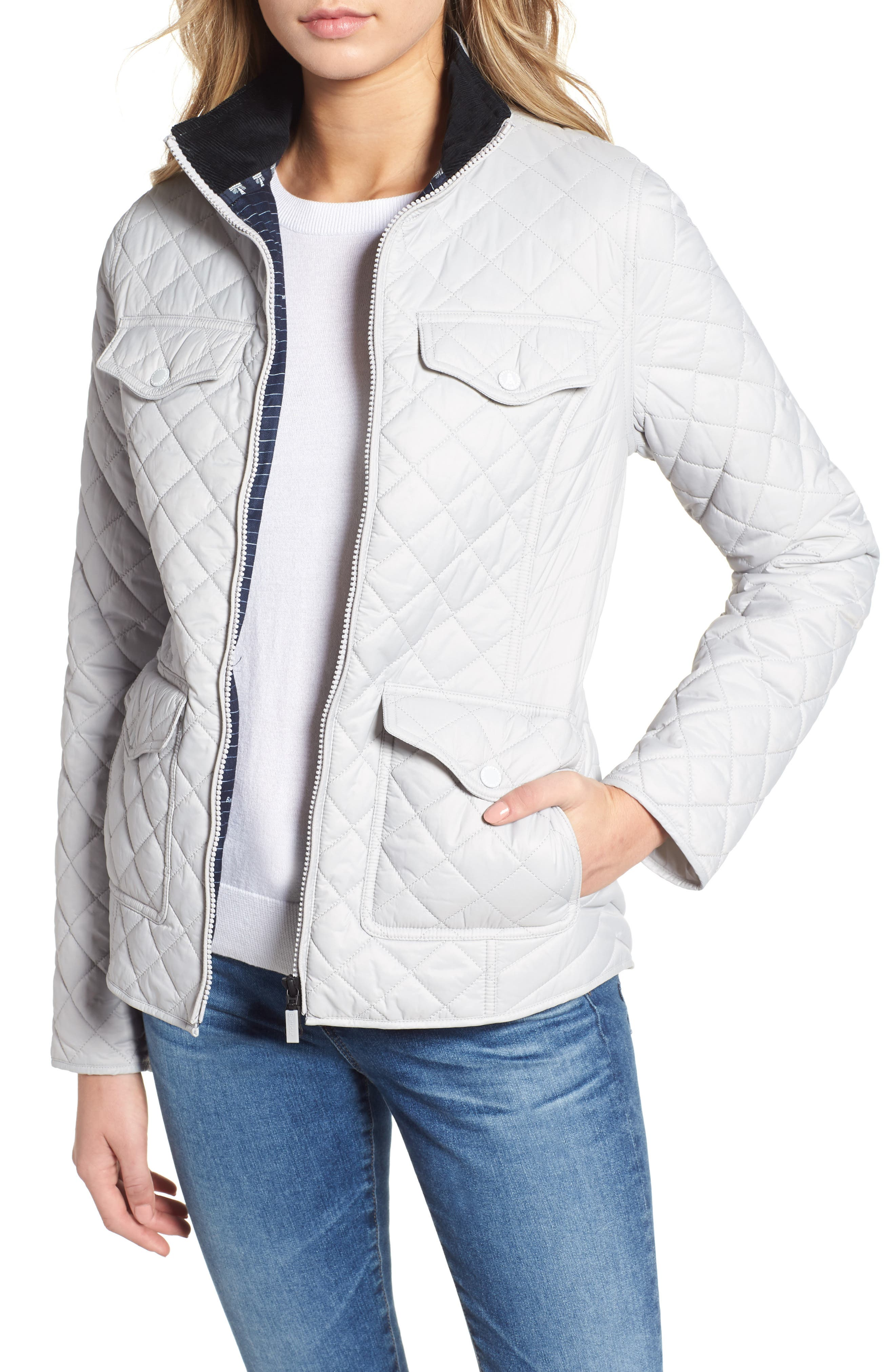 BARBOUR, Sailboat Quilted Jacket, Main thumbnail 1, color, 100