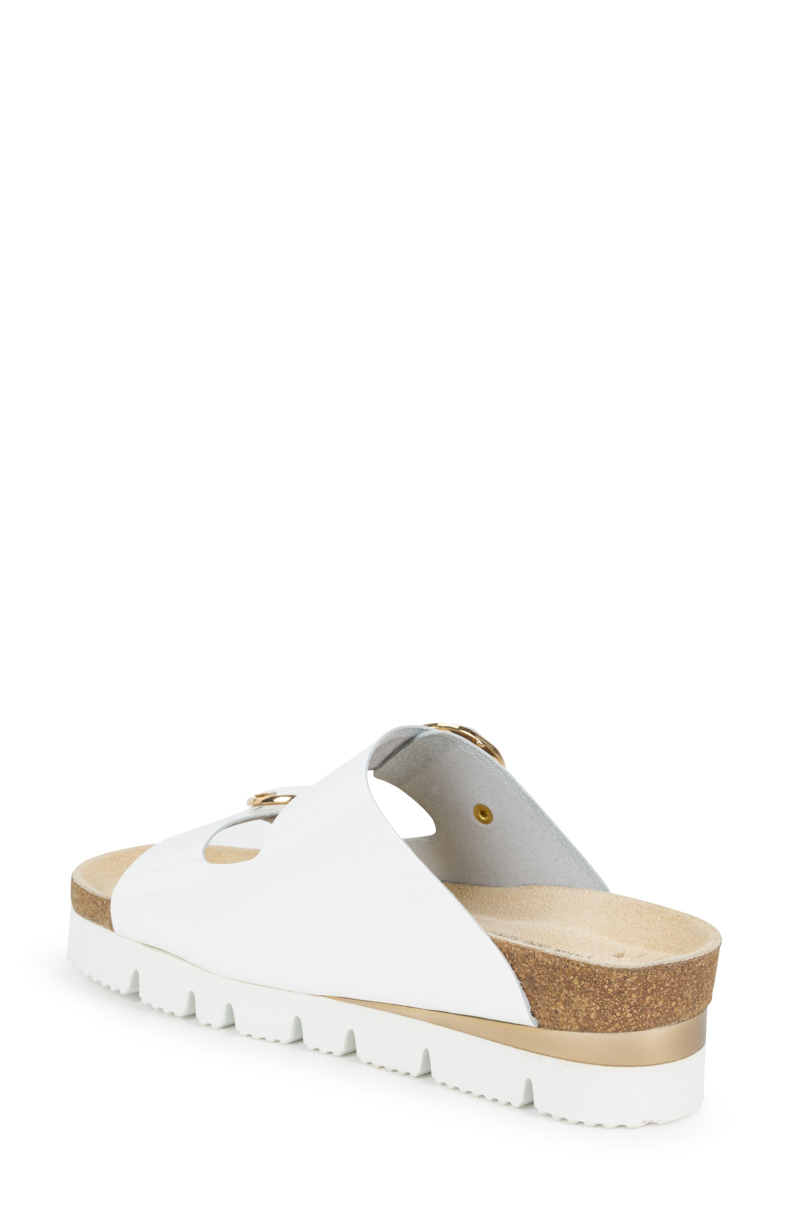 MEPHISTO, Vandy Slide Sandal, Alternate thumbnail 2, color, WHITE PATENT LEATHER