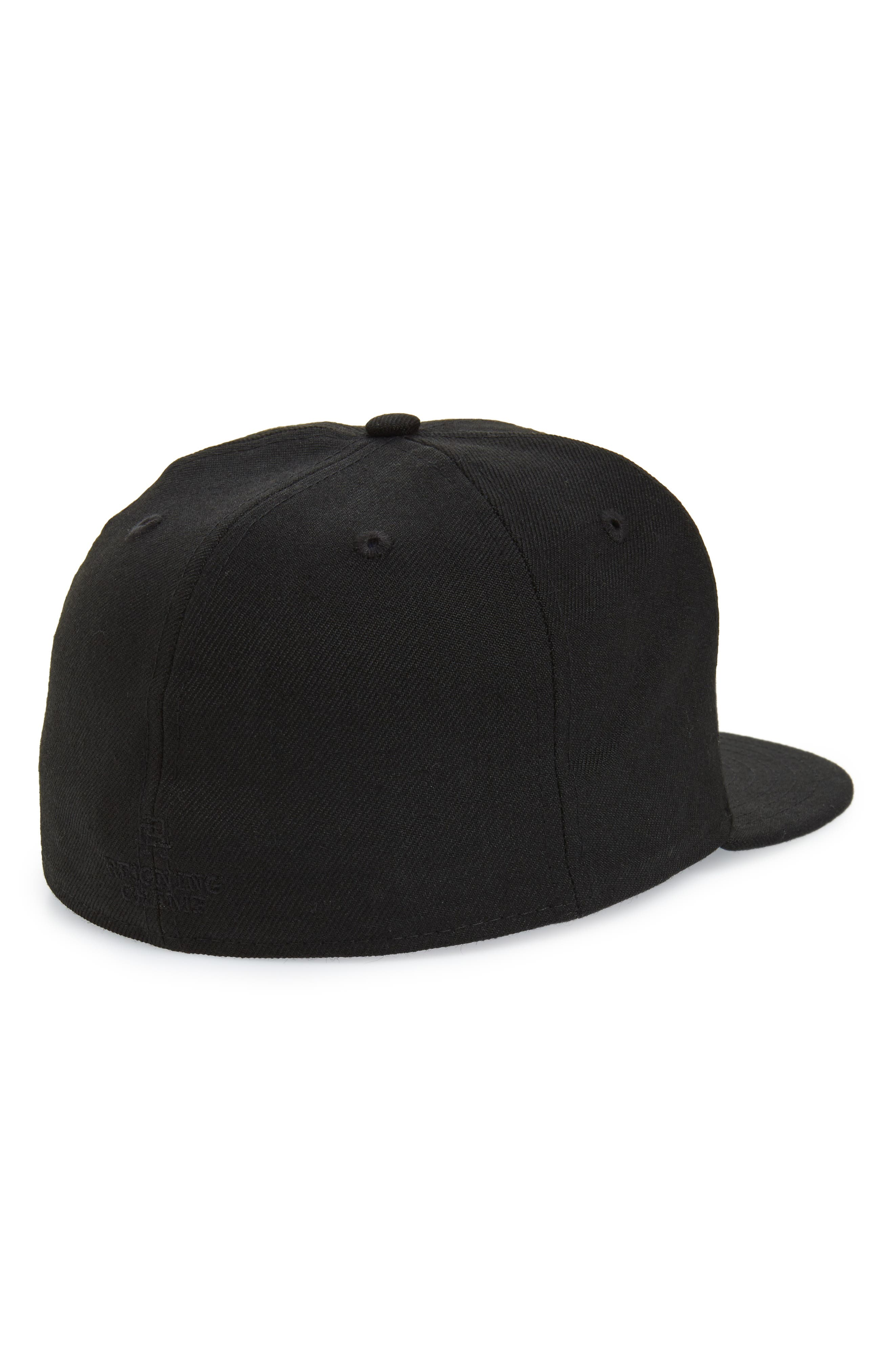 REIGNING CHAMP, New Era Fitted Baseball Cap, Alternate thumbnail 2, color, BLACK / BLACK