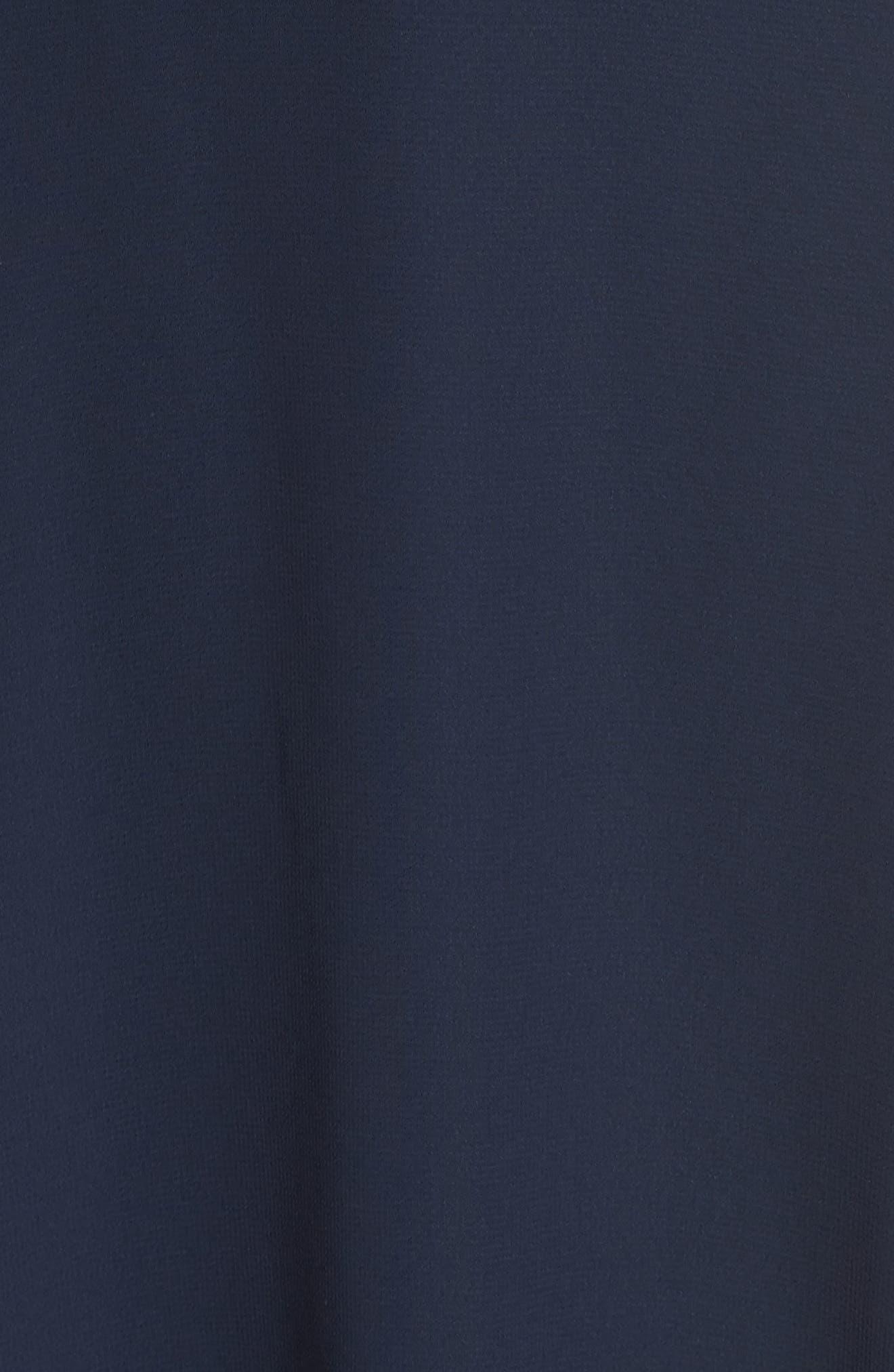JENNY YOO, Bryce Surplice V-Neck Chiffon Evening Dress, Alternate thumbnail 6, color, NAVY