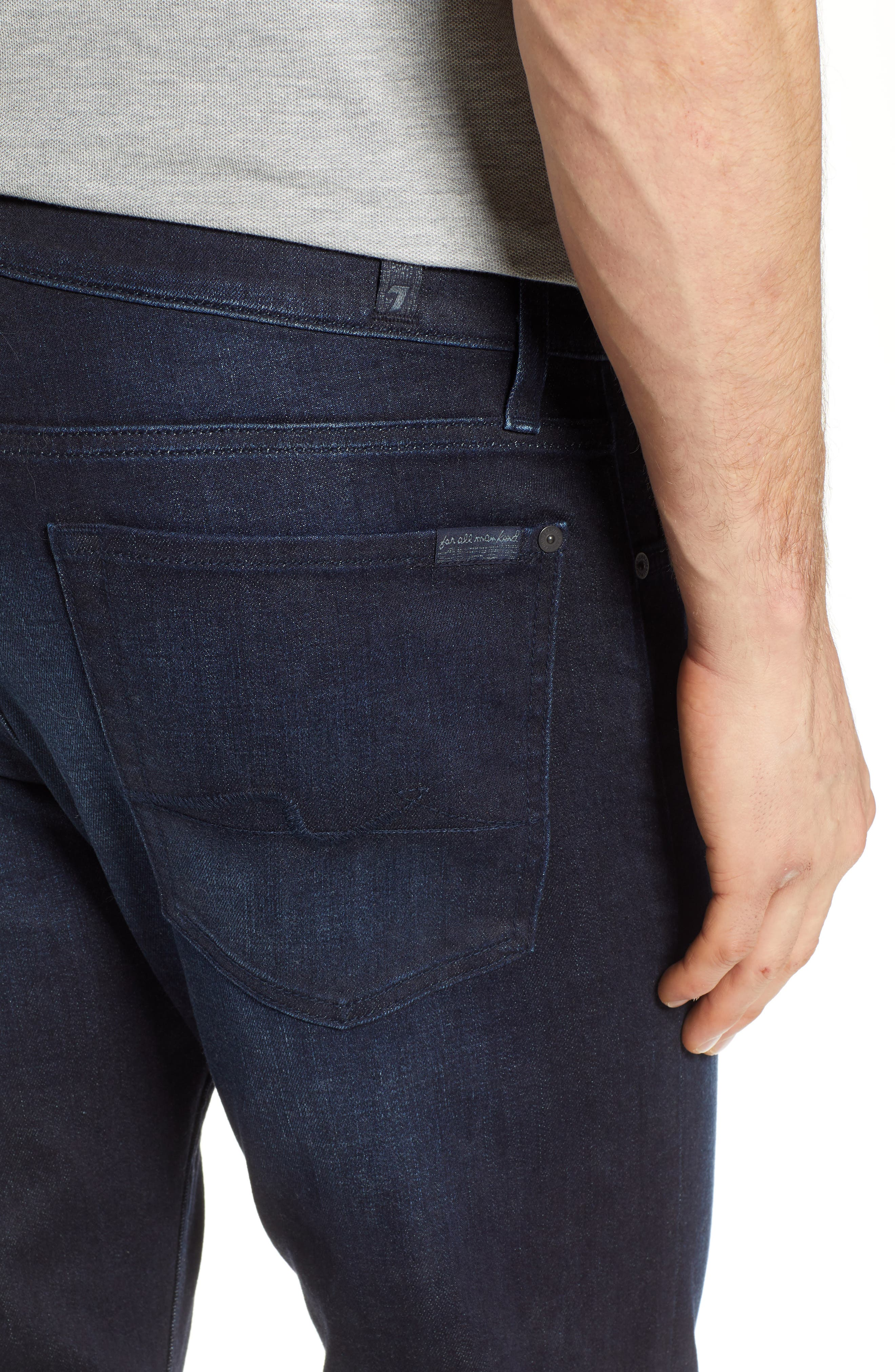 7 FOR ALL MANKIND<SUP>®</SUP>, Standard Straight Leg Jeans, Alternate thumbnail 5, color, RICHFIELD