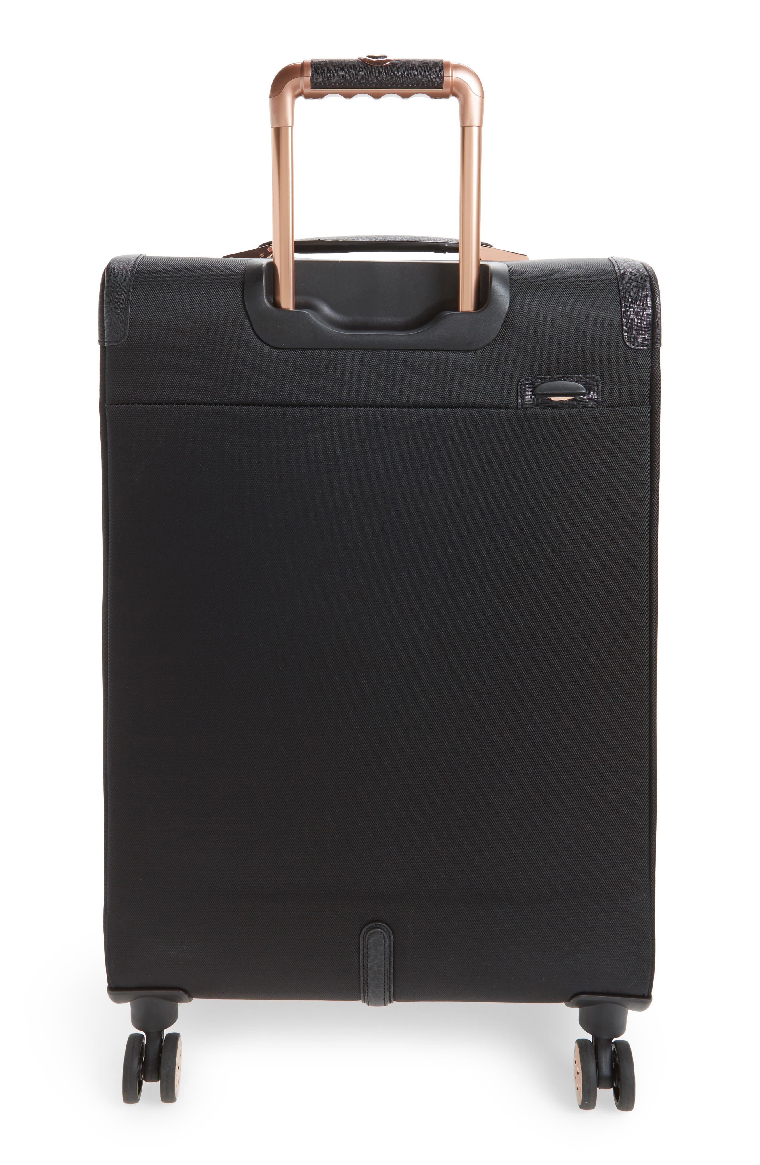 TED BAKER LONDON, Medium Albany 27-Inch Spinner Suitcase, Alternate thumbnail 4, color, BLACK