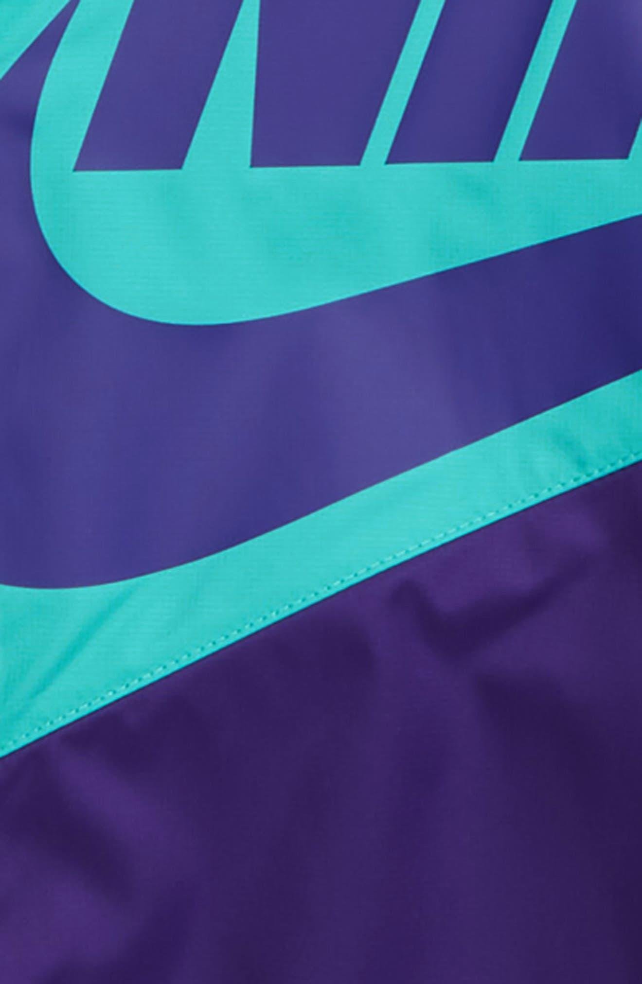NIKE, Sportswear Windrunner Zip Jacket, Alternate thumbnail 2, color, COURT PURPLE/ CABANA