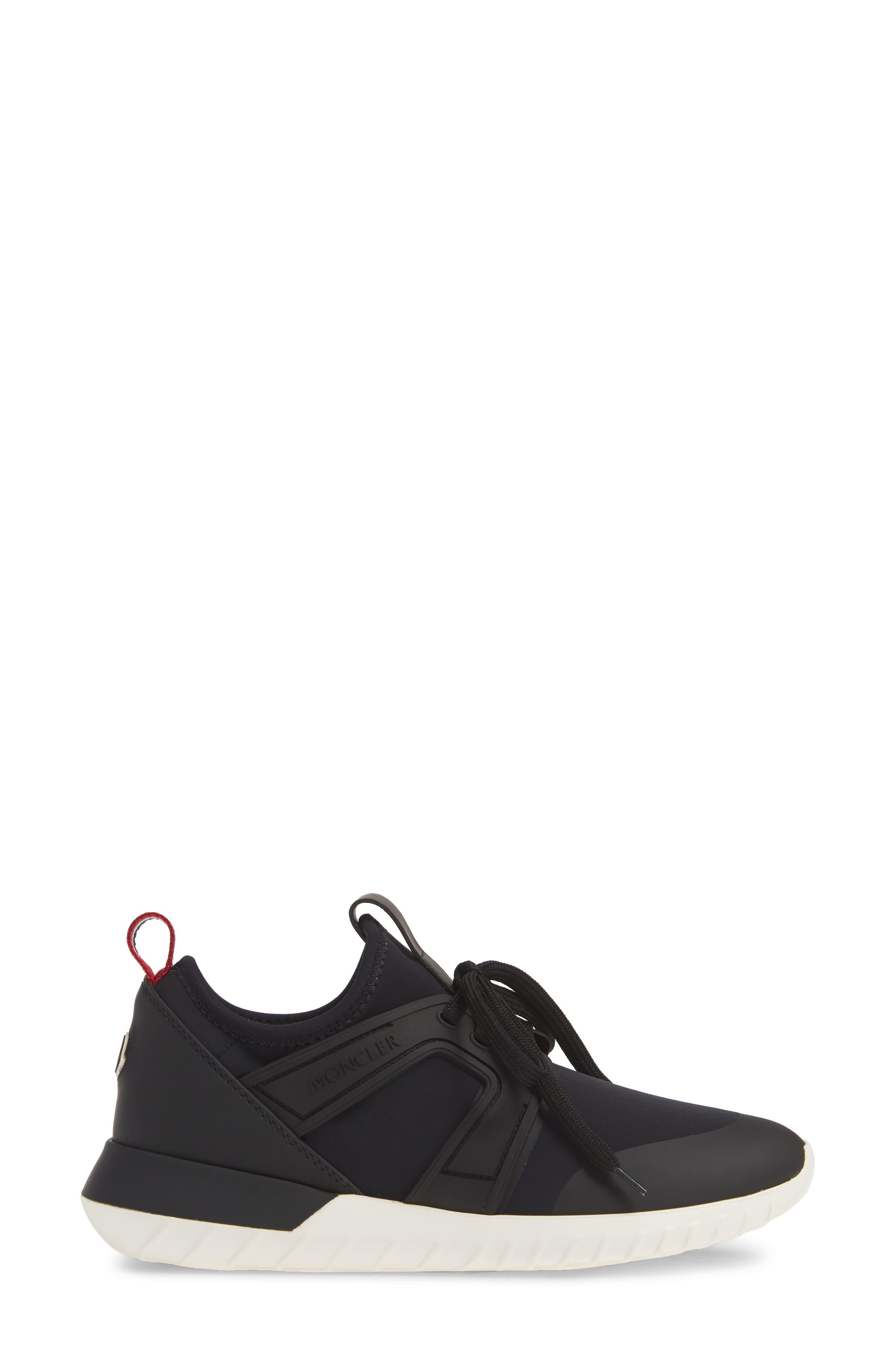 MONCLER, Meline Scarpa Sneaker, Alternate thumbnail 3, color, BLACK