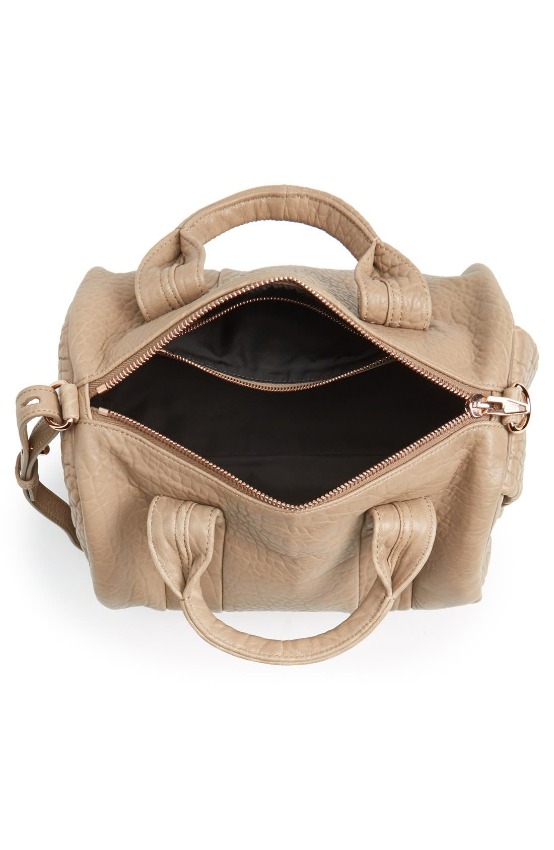 ALEXANDER WANG, 'Rocco - Rose Gold' Leather Satchel, Alternate thumbnail 2, color, 250