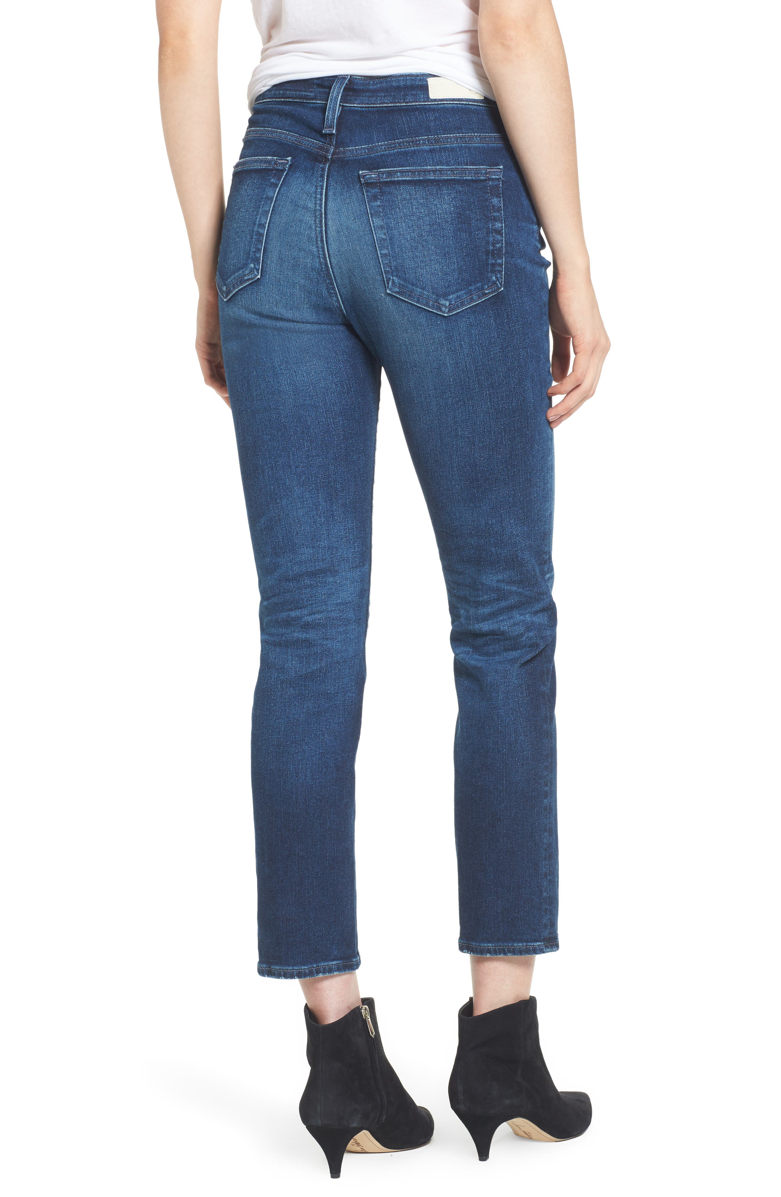 AG, The Isabelle High Waist Crop Straight Leg Jeans, Alternate thumbnail 2, color, 416
