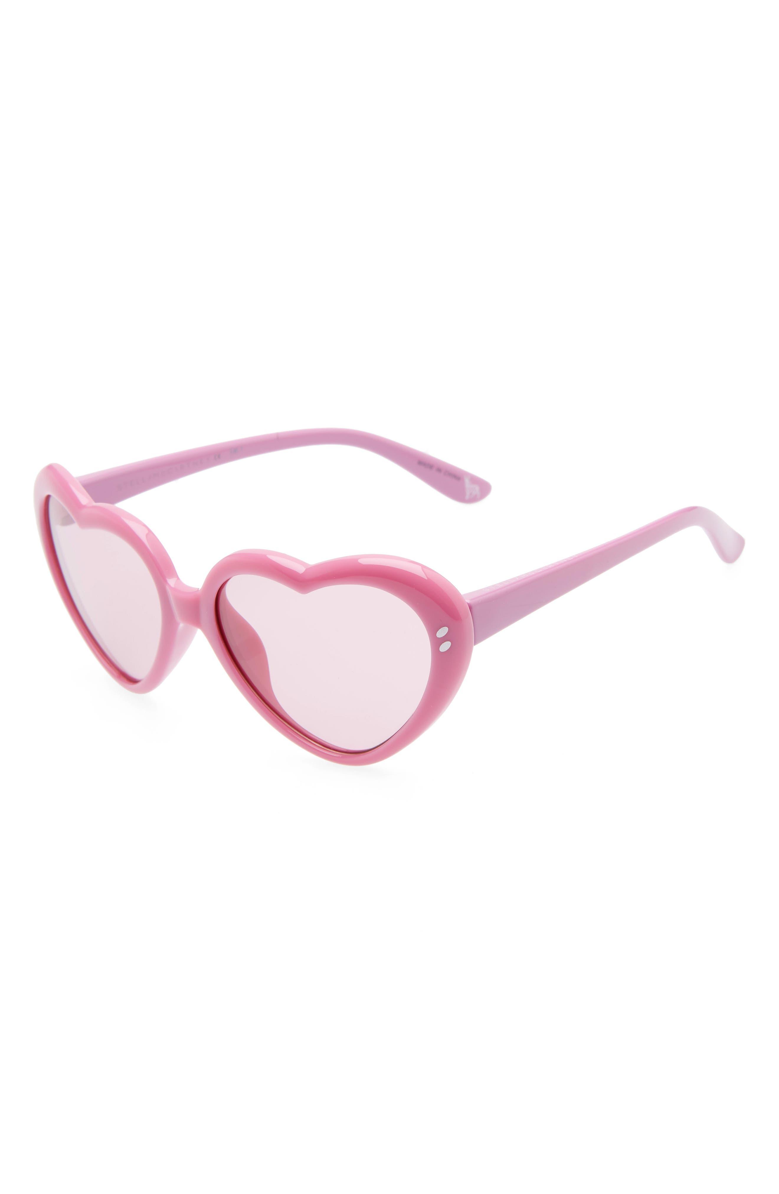 STELLA MCCARTNEY KIDS 49mm Heart Sunglasses, Main, color, 514