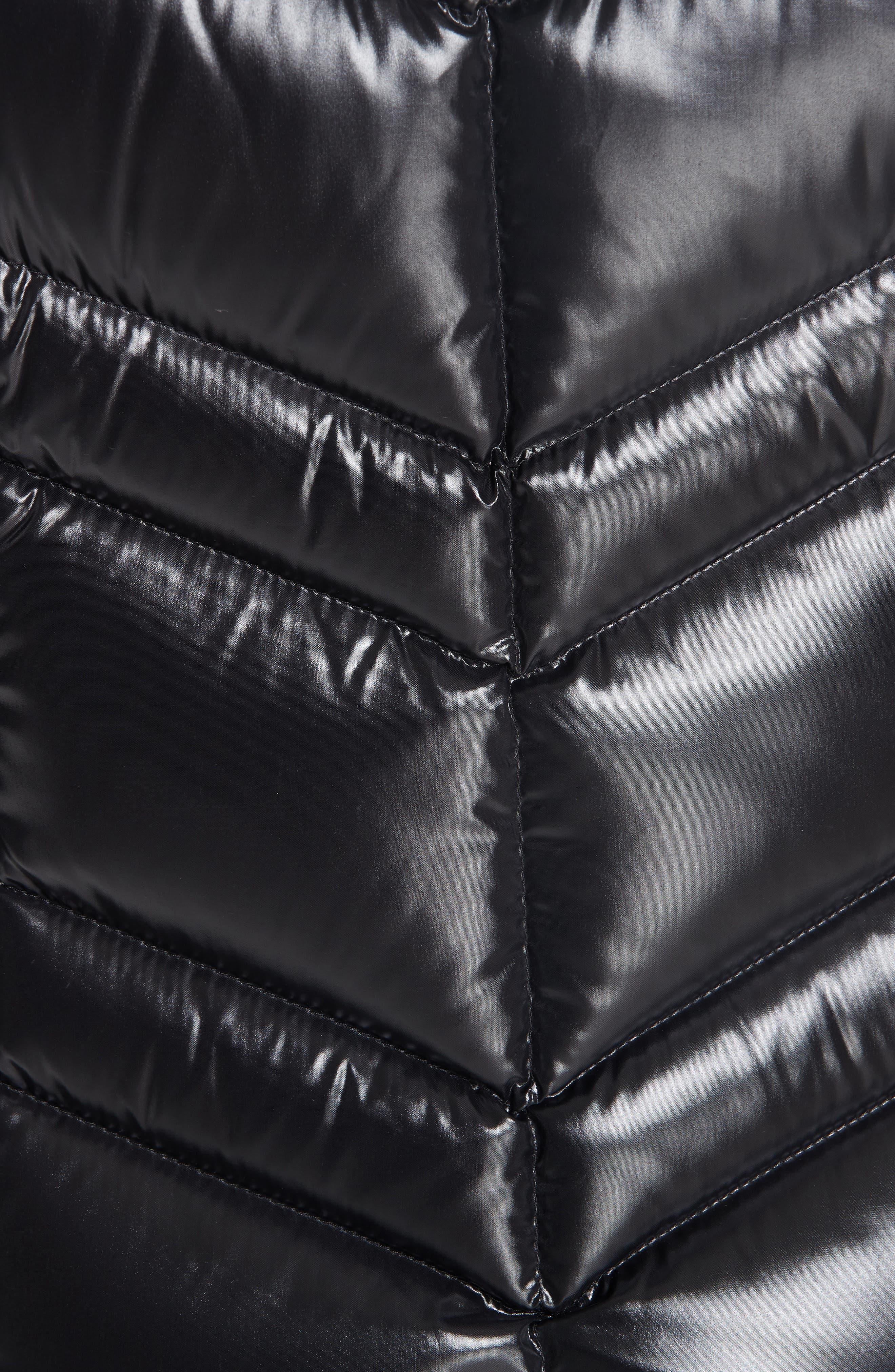 MONCLER, Fuligule Guibbotto Hooded Puffer Coat, Alternate thumbnail 6, color, 001