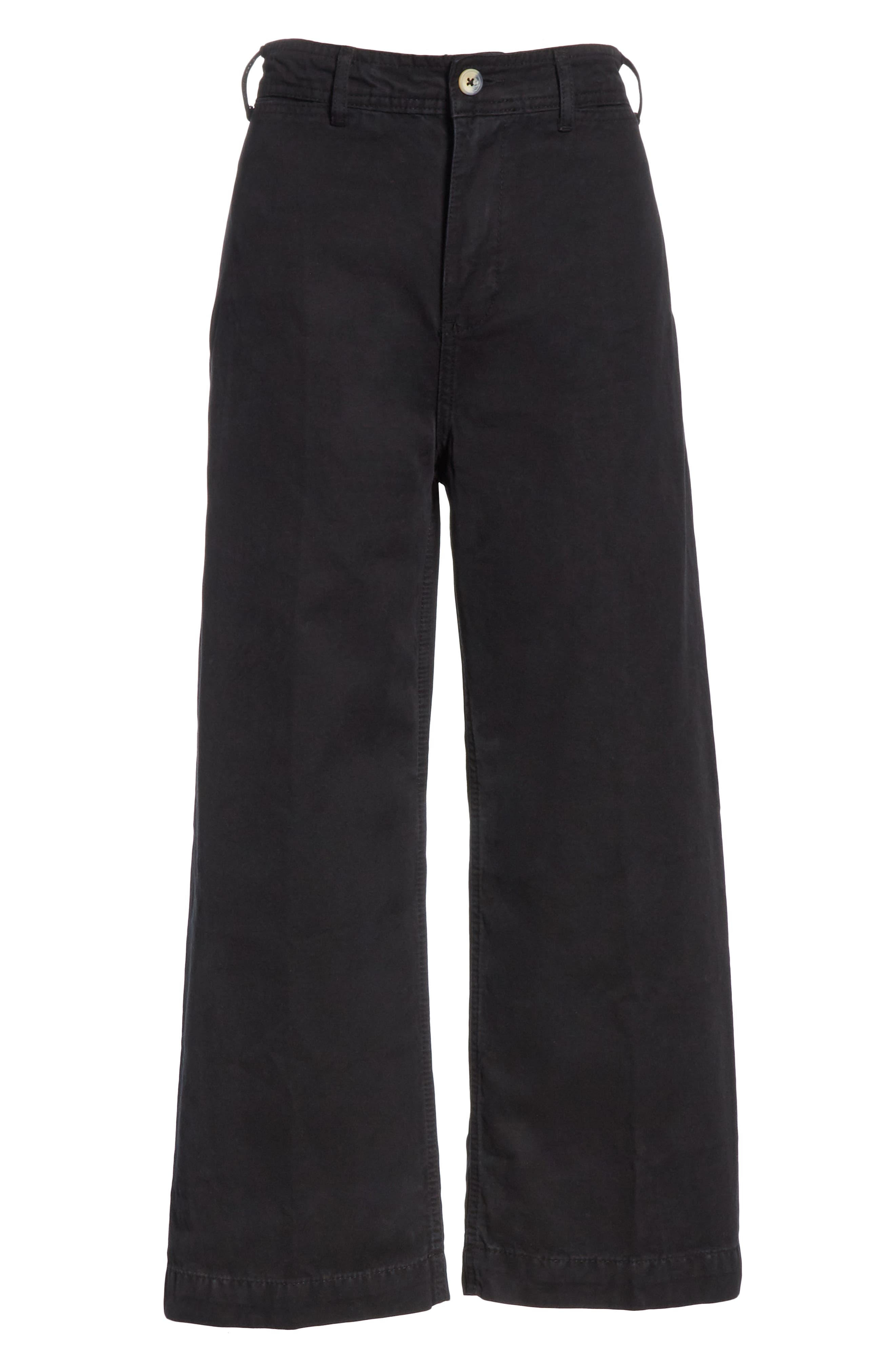 FREE PEOPLE, We the Free by Free People Patti Crop Cotton Pants, Alternate thumbnail 7, color, 001
