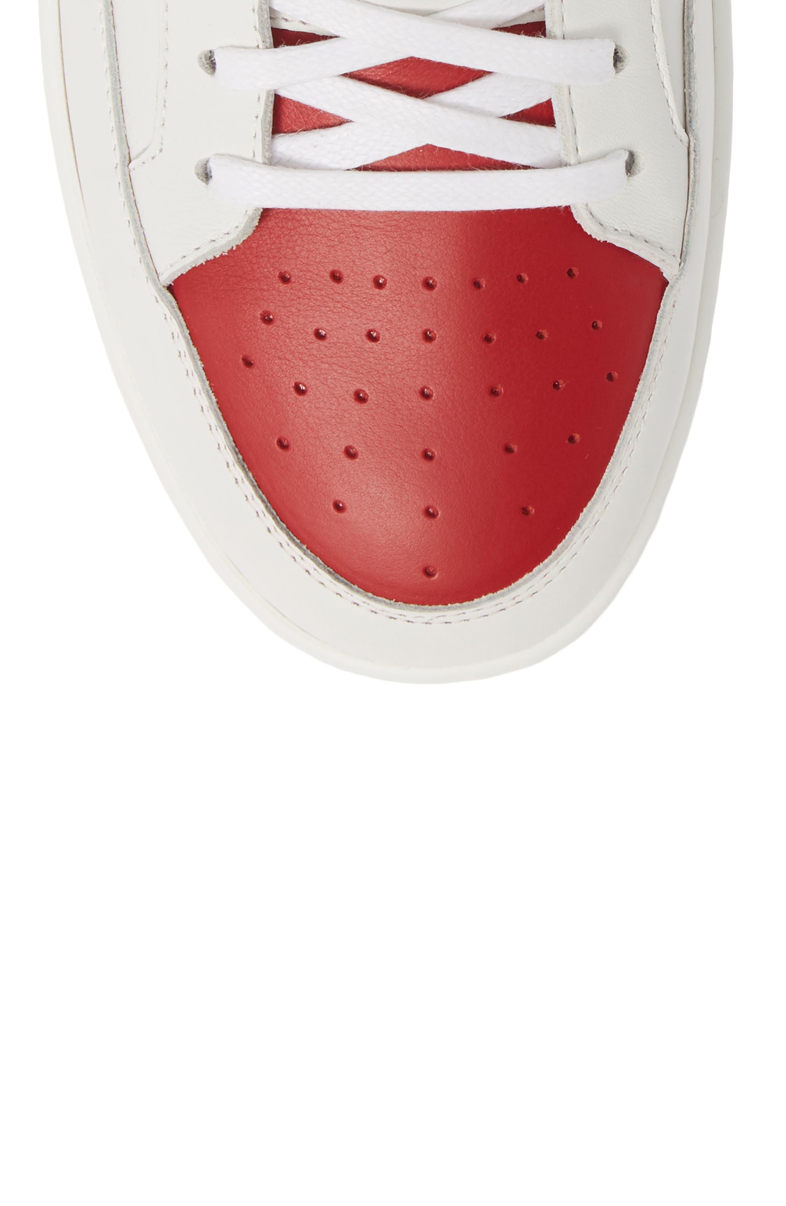 SAINT LAURENT, SL/10H Signature Court Classic High-Top Sneaker, Alternate thumbnail 5, color, WHITE/ MULTI