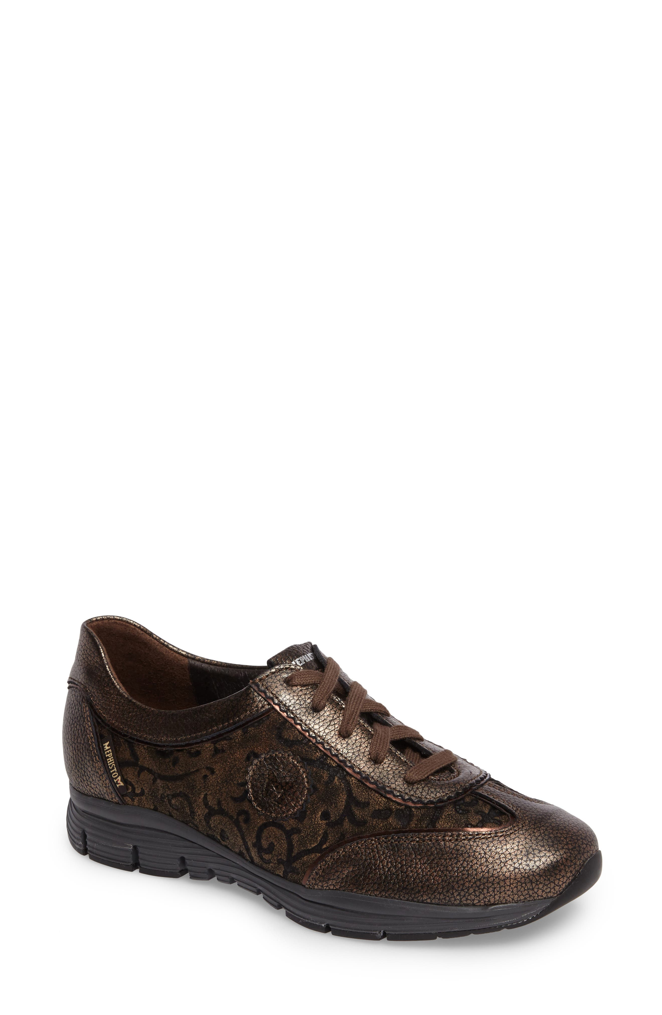 MEPHISTO, 'Yael' Soft-Air Sneaker, Main thumbnail 1, color, COPPER LEATHER