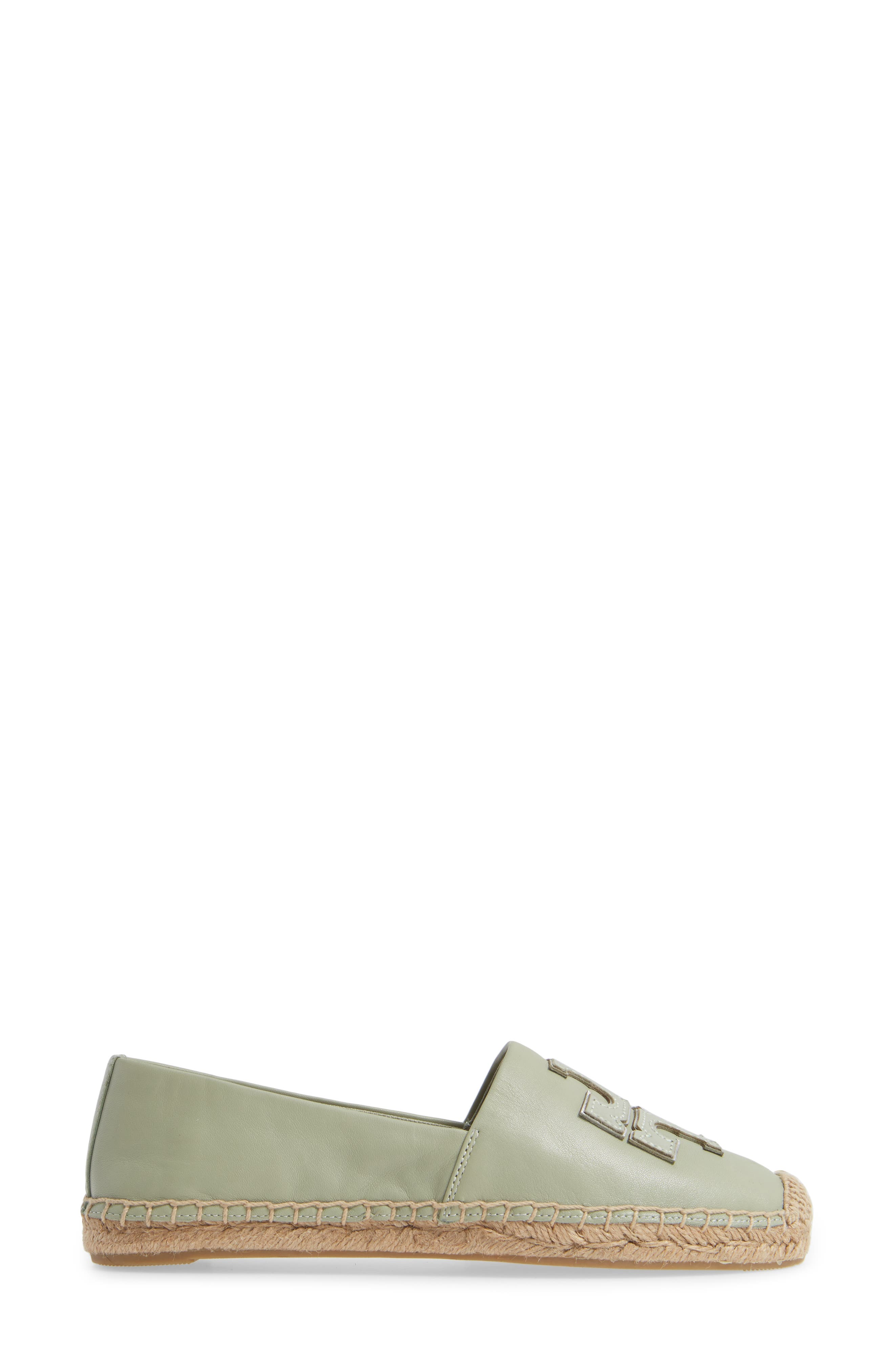 TORY BURCH, Ines Espadrille, Alternate thumbnail 3, color, GARDEN SAGE / SILVER