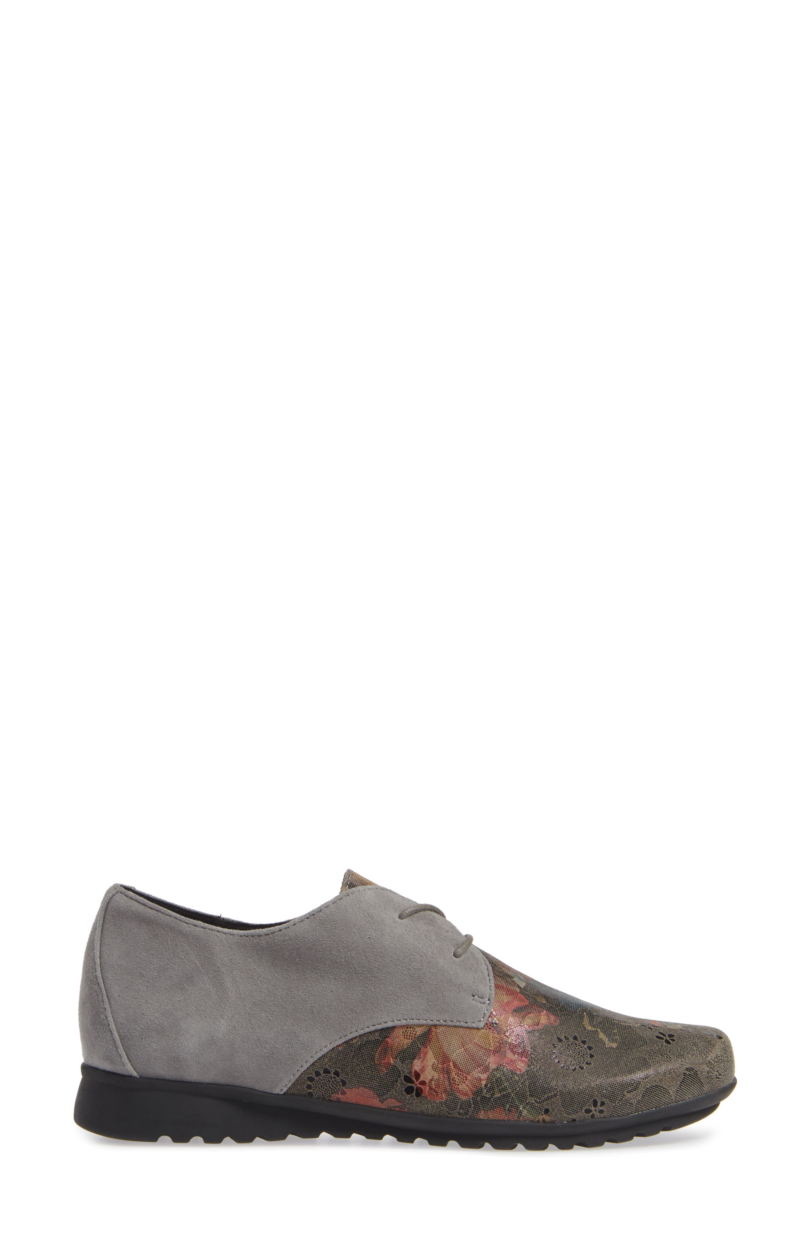 AETREX, Erin Saddle Shoe, Alternate thumbnail 3, color, CHARCOAL LEATHER