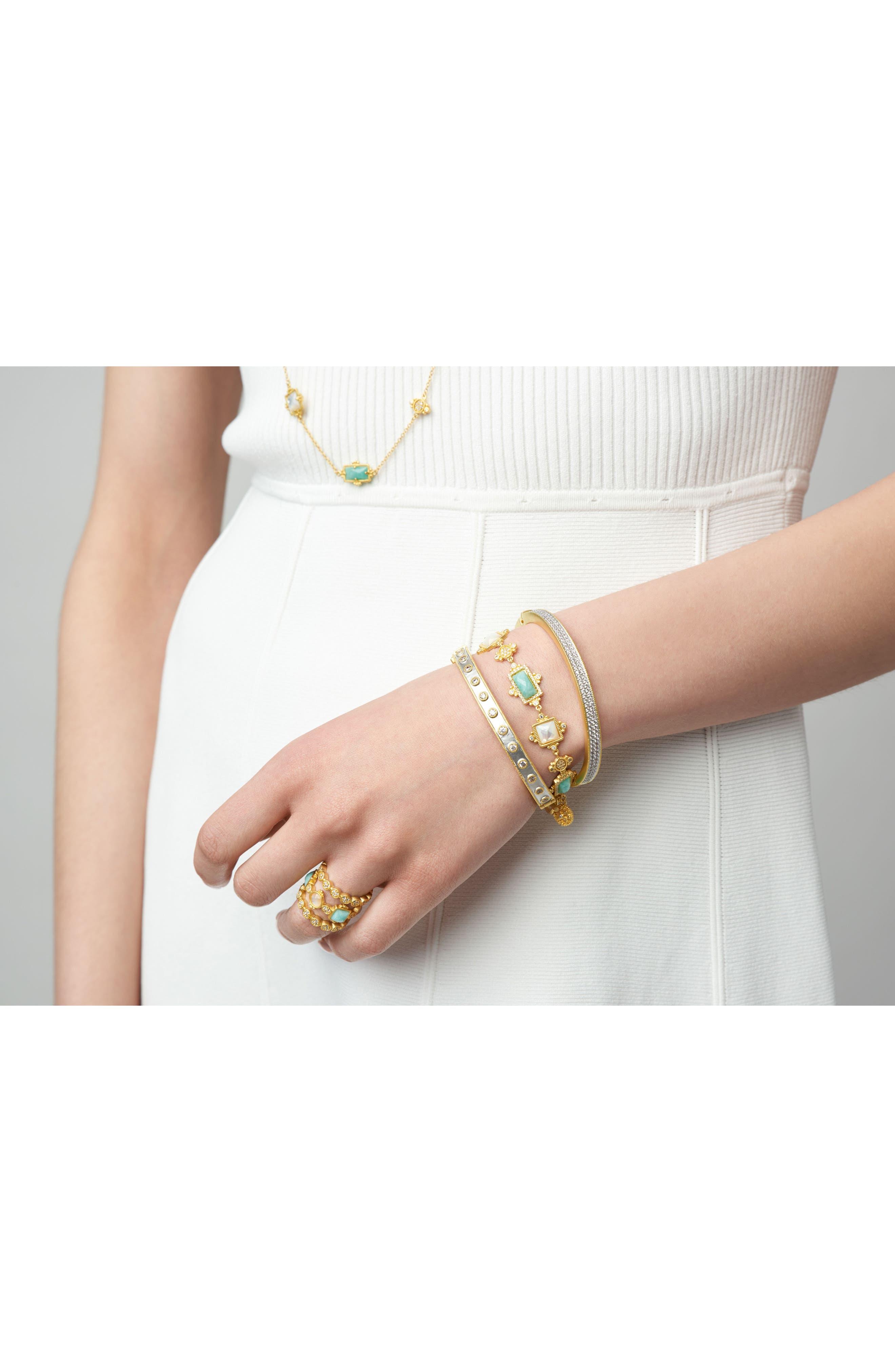 FREIDA ROTHMAN, Amazonian Allure Line Bracelet, Alternate thumbnail 2, color, 710