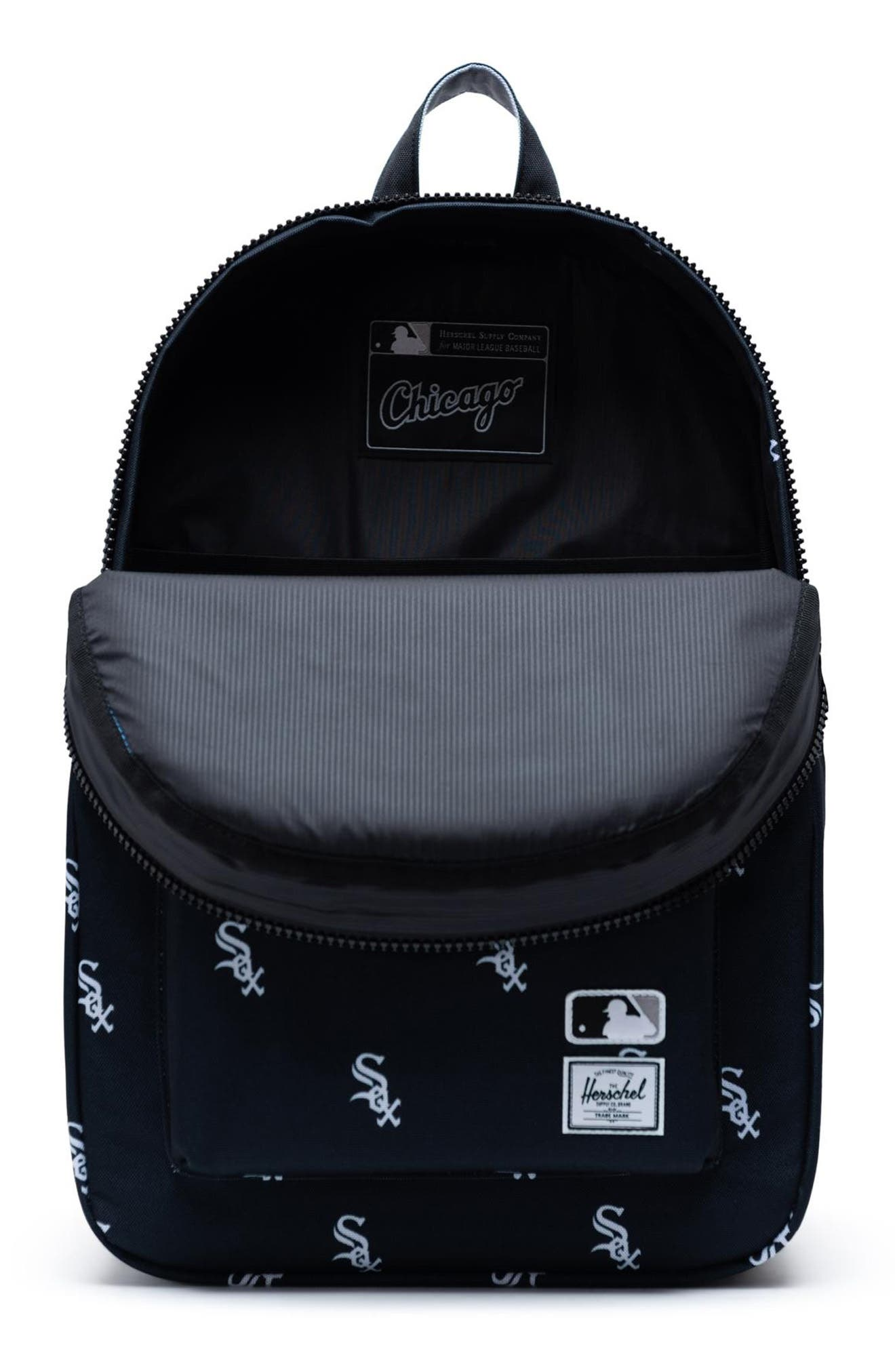 HERSCHEL SUPPLY CO., Settlement - MLB Outfield Backpack, Alternate thumbnail 3, color, CHICAGO WHITE SOX