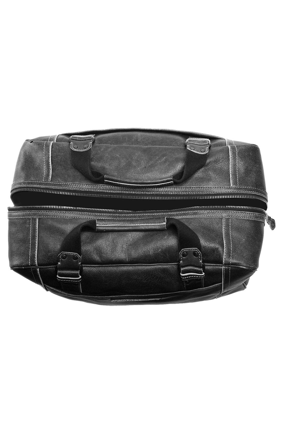 MARC NEW YORK, by Andrew Marc Vintage Leather Weekend Duffel Bag, Alternate thumbnail 2, color, 001