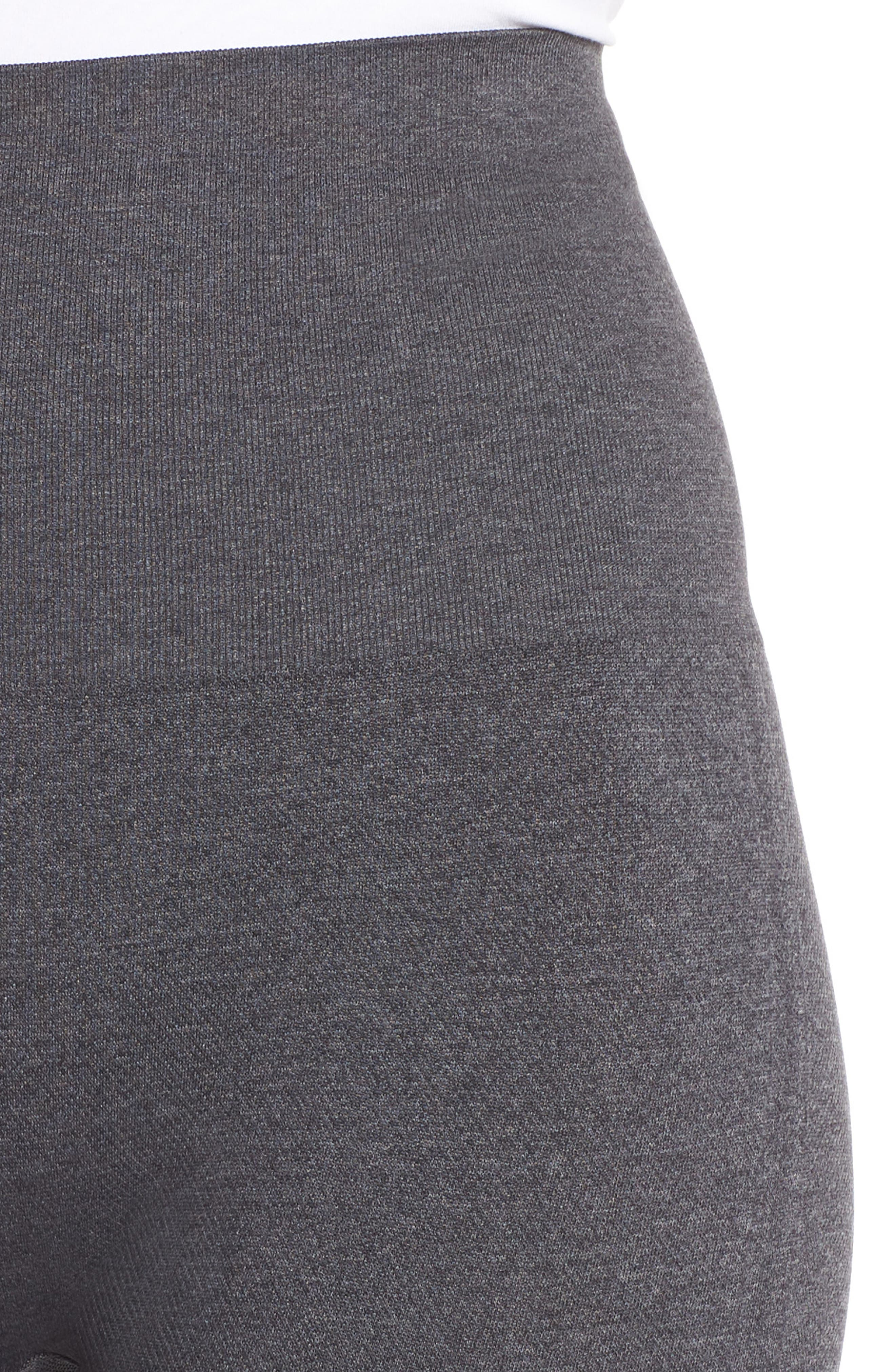 SPANX<SUP>®</SUP>, Look at Me Now' Seamless Leggings, Alternate thumbnail 5, color, HEATHER CHARCOAL