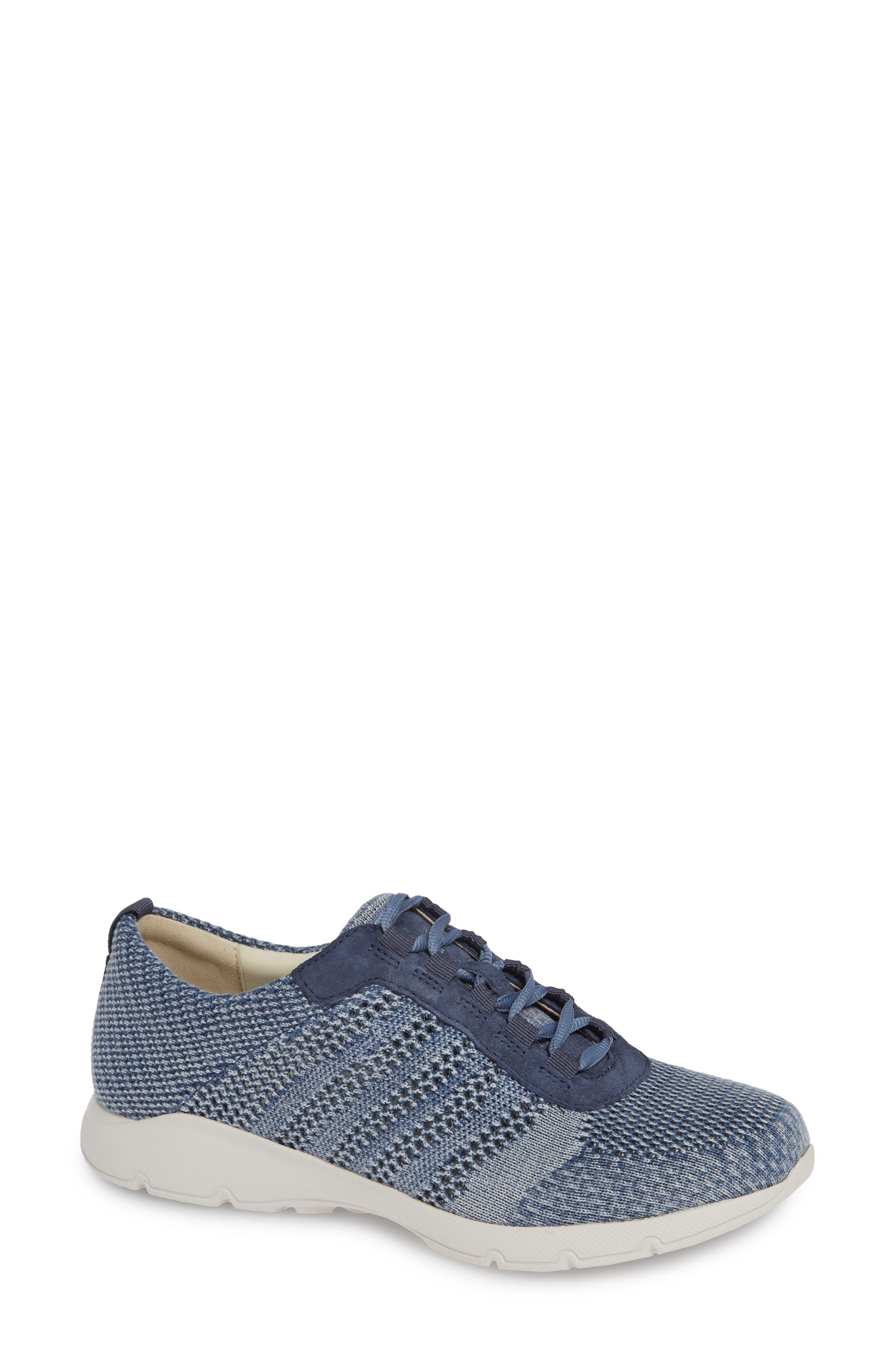 DANSKO, Adrianne Sneaker, Main thumbnail 1, color, DENIM