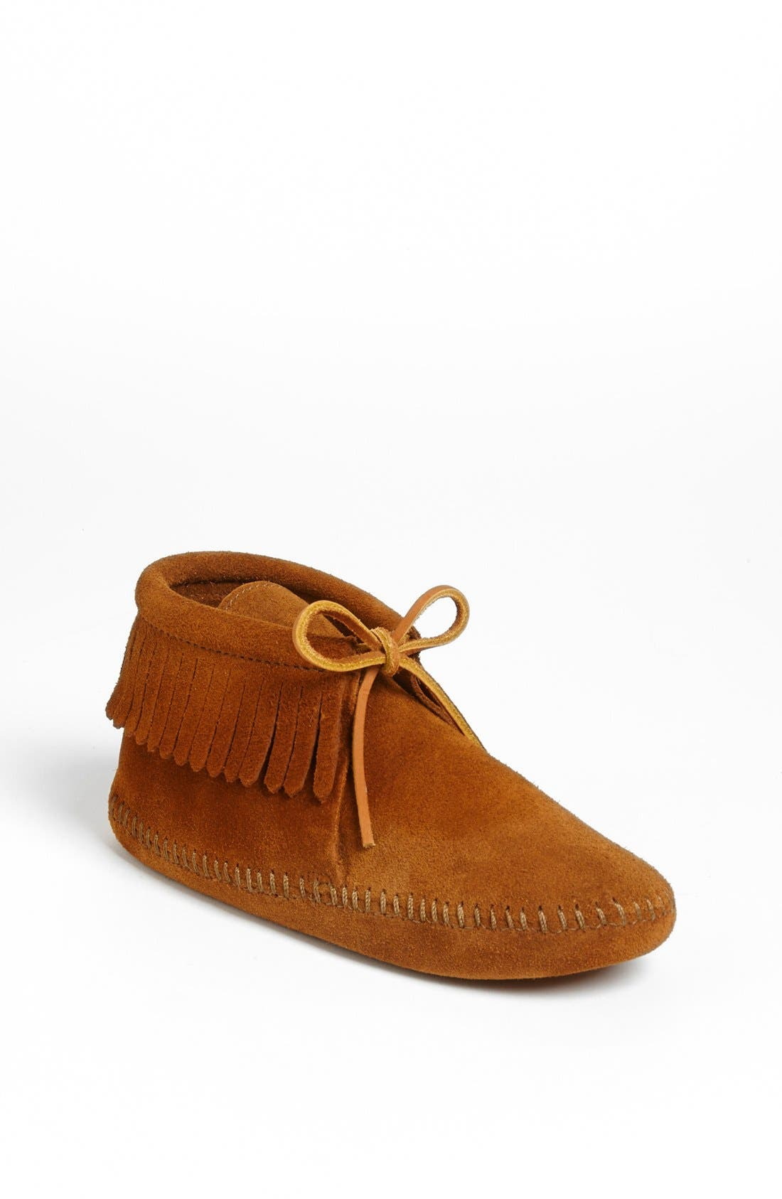 MINNETONKA 'Classic Fringe' Boot, Main, color, BROWN