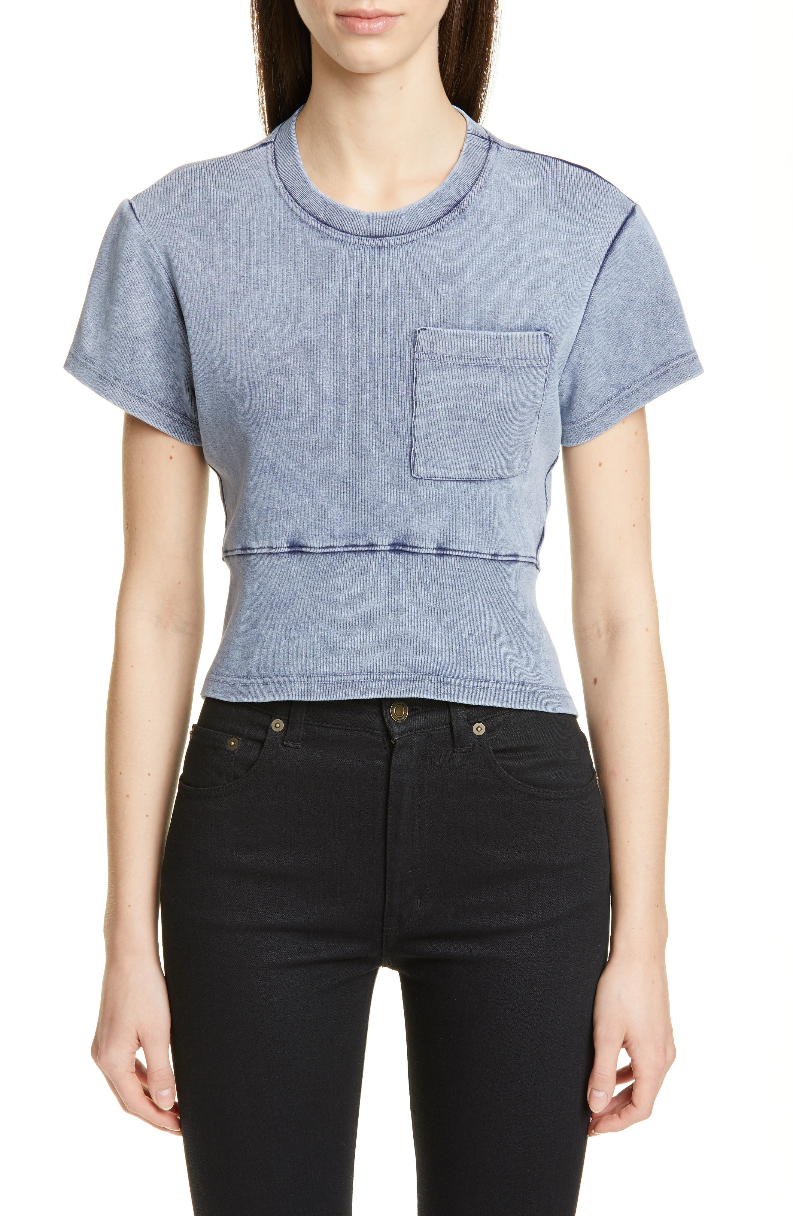 PROENZA SCHOULER, Washed Jersey Top, Main thumbnail 1, color, WASHED ACID