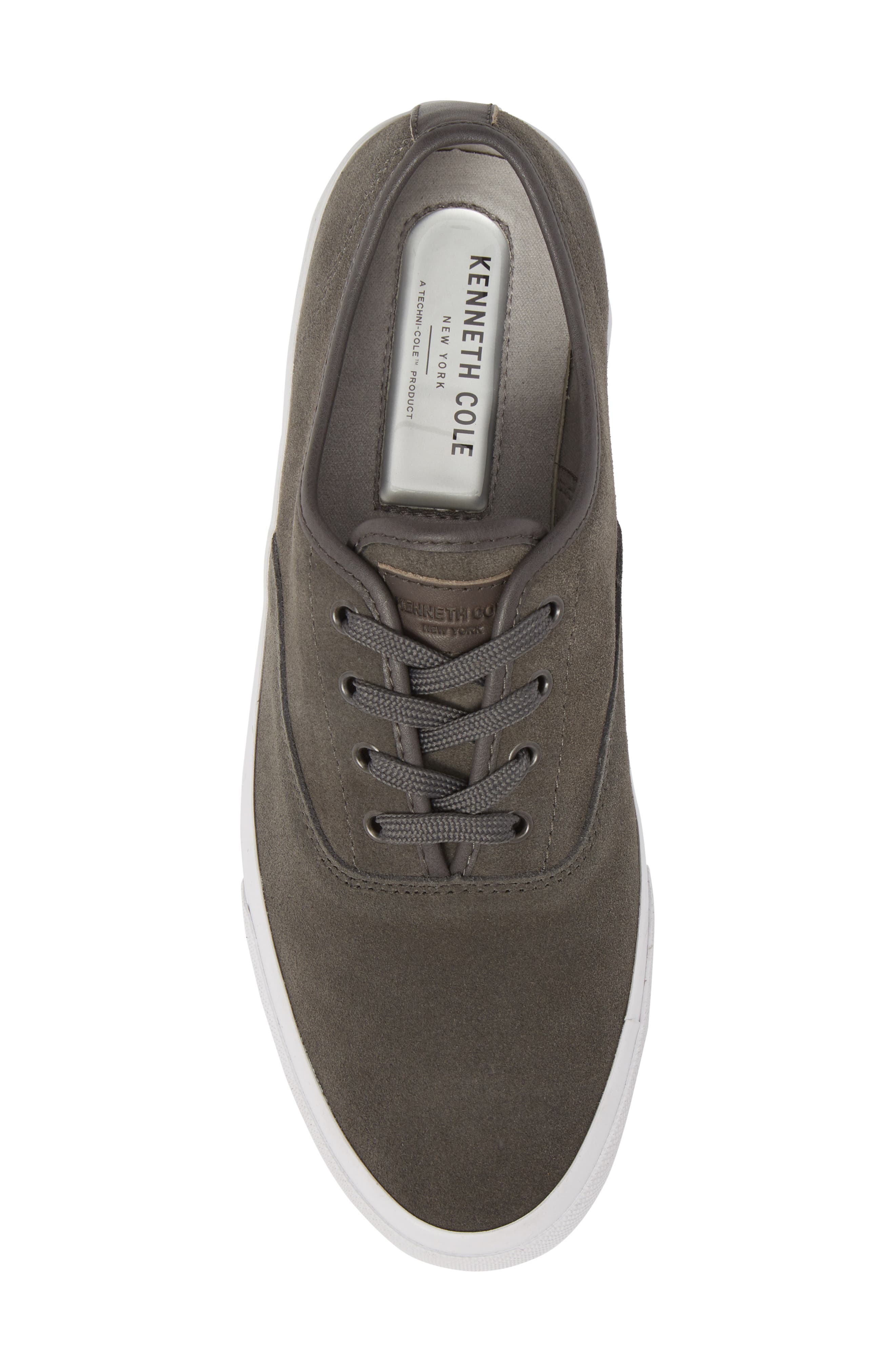 KENNETH COLE NEW YORK, Toor Low Top Sneaker, Alternate thumbnail 5, color, GREY COMBO SUEDE