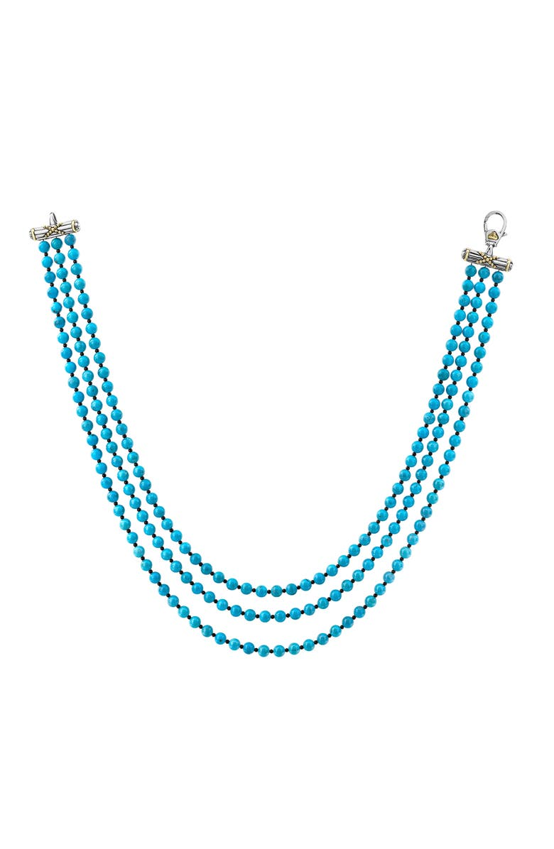 Lagos Accessories CAVIAR ICON BEADED TRIPLE STRAND NECKLACE