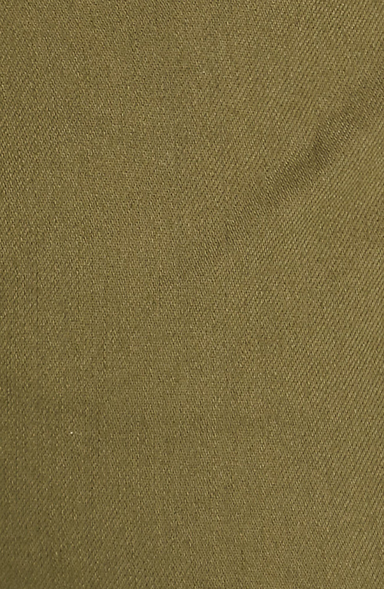 EILEEN FISHER, Slouchy Ankle Pants, Alternate thumbnail 6, color, OLIVE