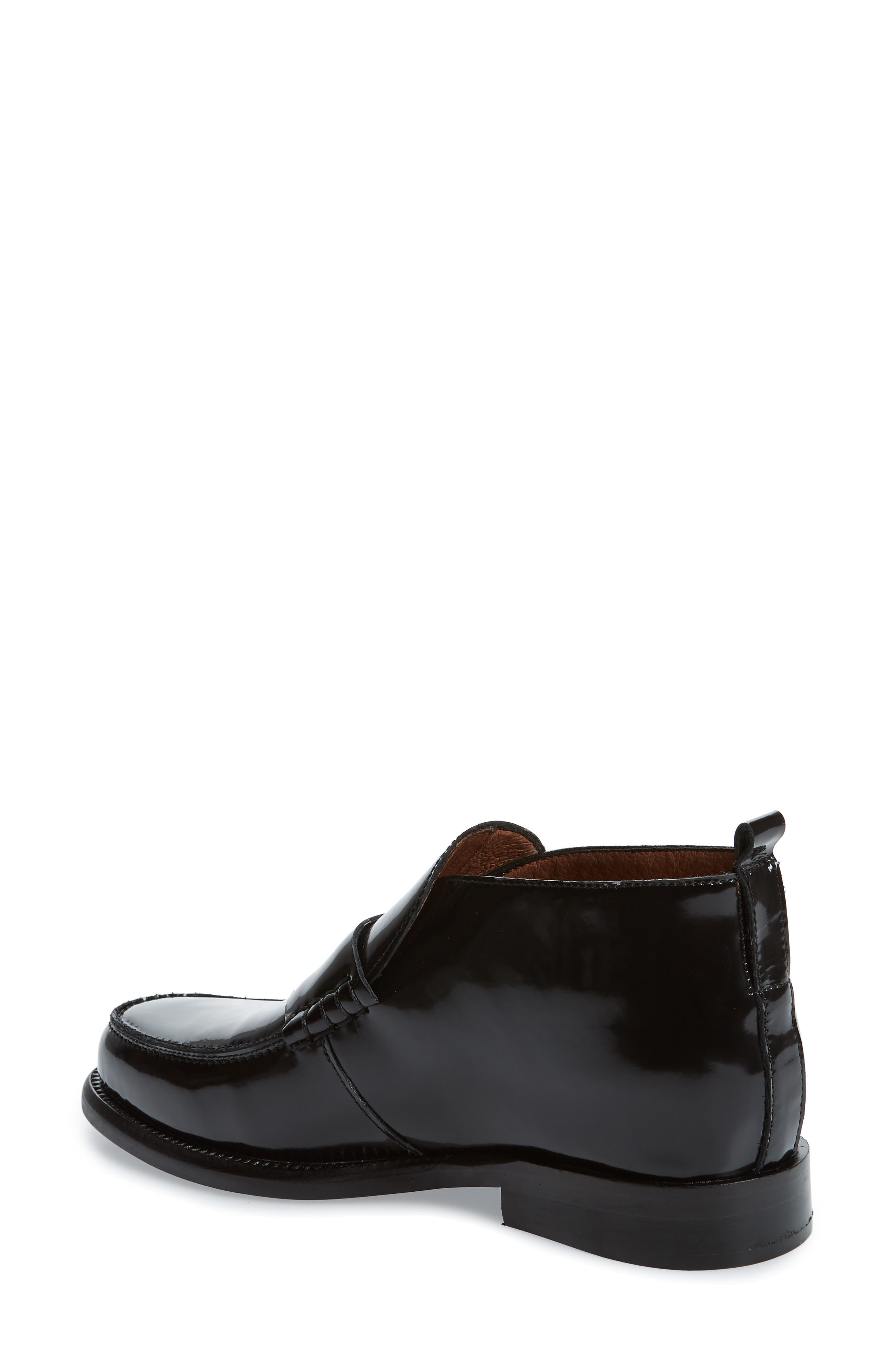 JEFFREY CAMPBELL, Marquis Loafer, Alternate thumbnail 2, color, BLACK LEATHER