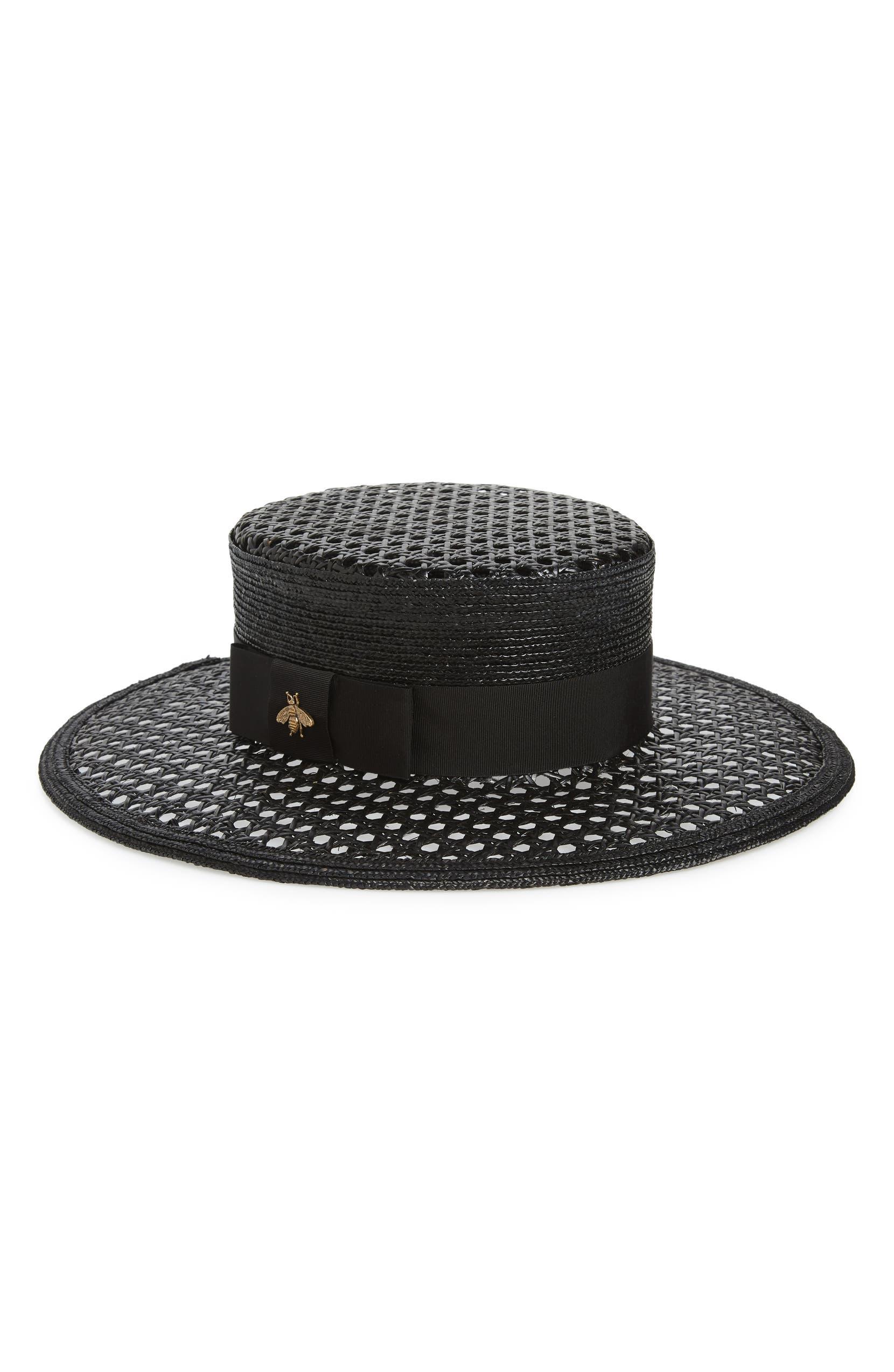 7bbf9fdc1dc Gucci Vienna Alba Open Woven Straw Hat