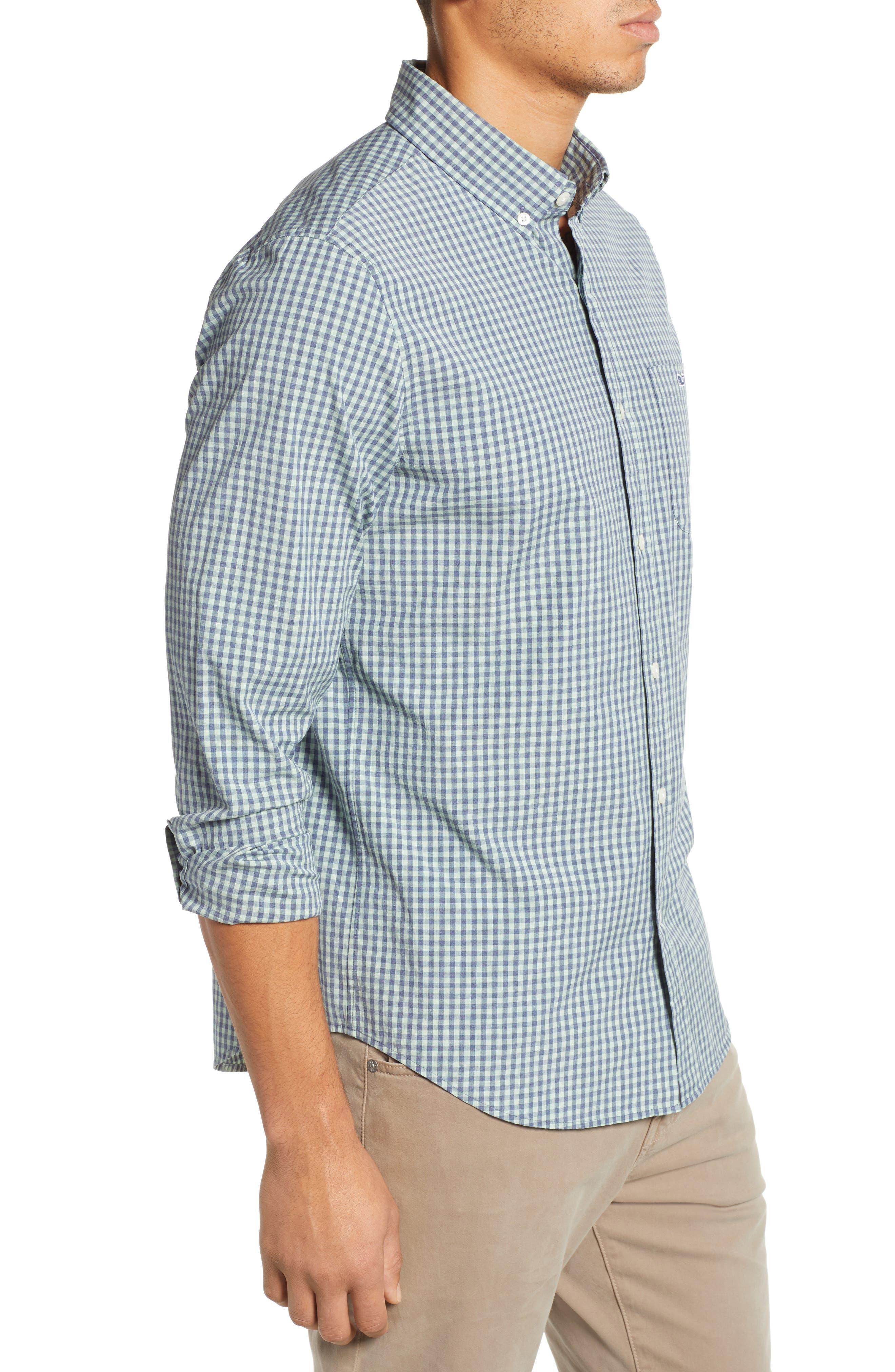 VINEYARD VINES, Gingham Check Sport Shirt, Alternate thumbnail 4, color, 362