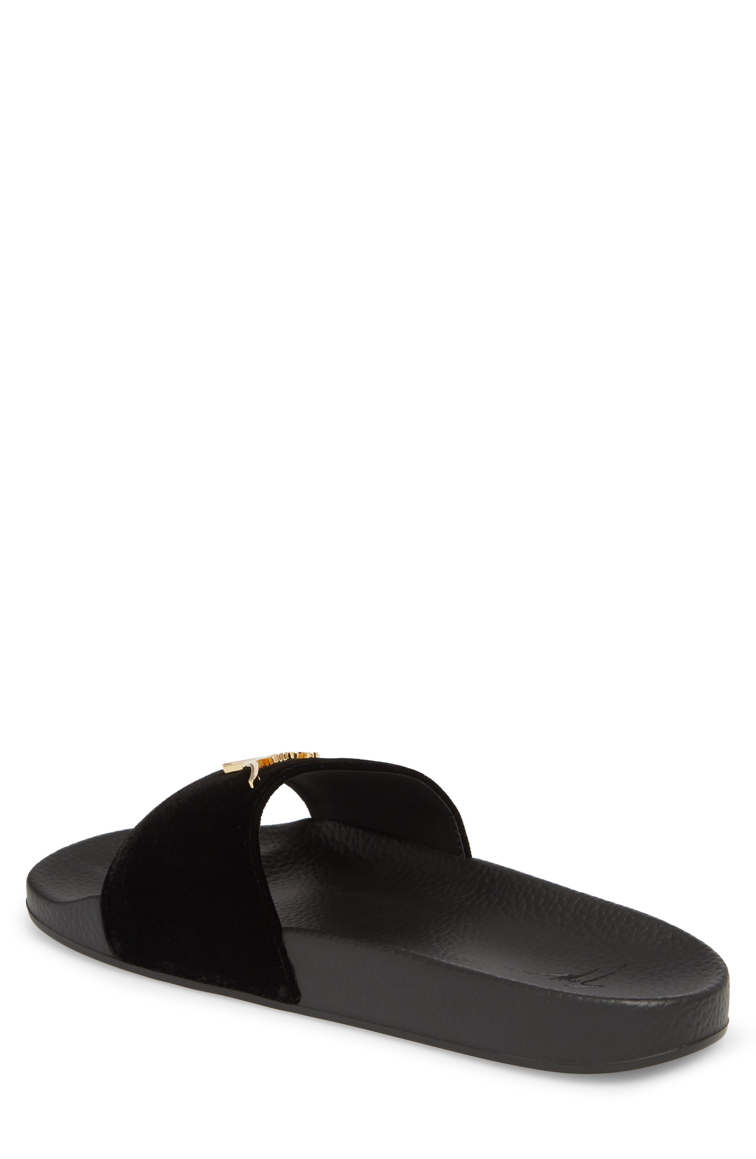 GIUSEPPE ZANOTTI, Slide Sandal, Alternate thumbnail 2, color, NERO