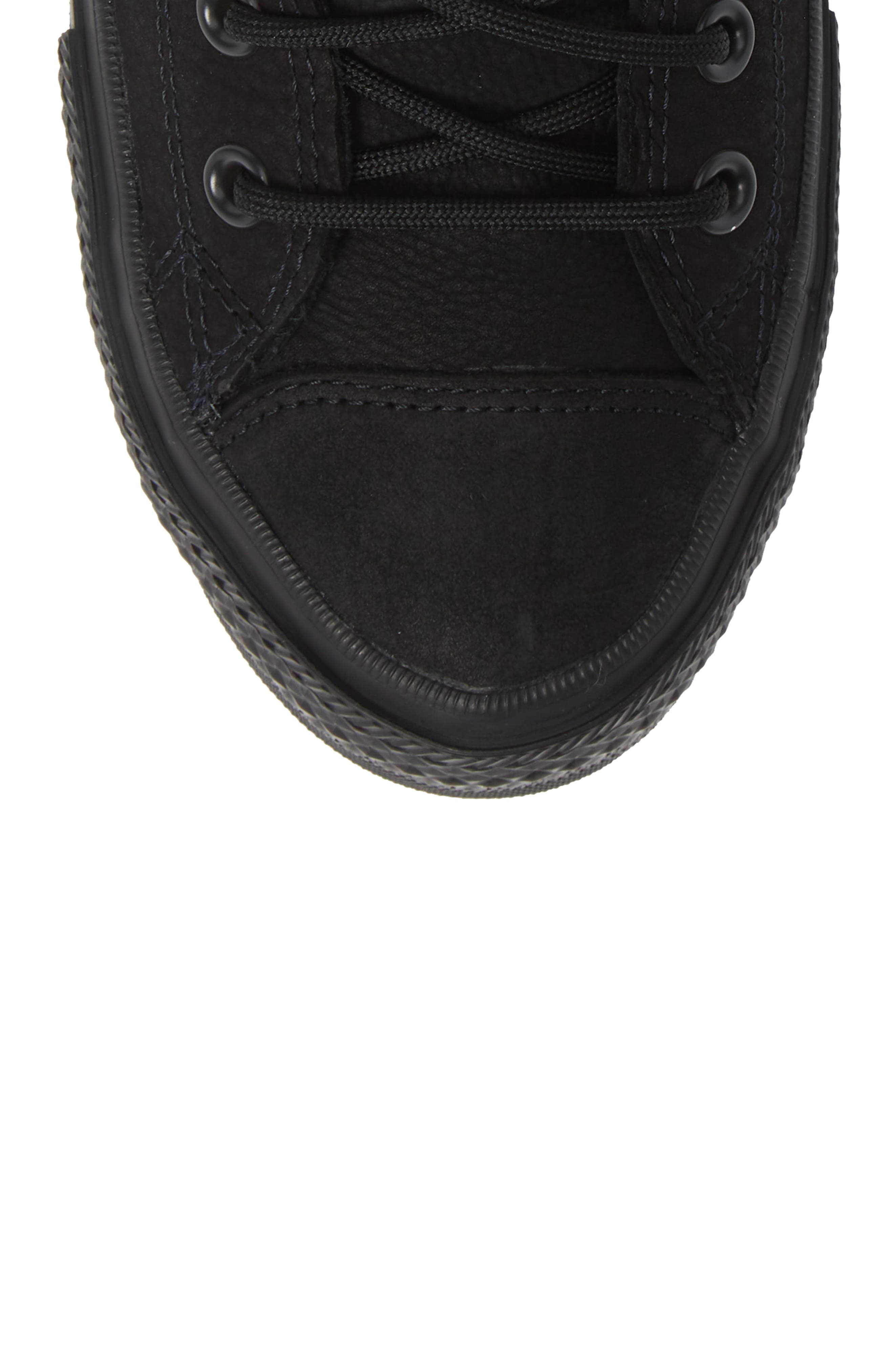 CONVERSE, Chuck Taylor<sup>®</sup> All Star<sup>®</sup> Counter Climate Waterproof Sneaker, Alternate thumbnail 5, color, BLACK/ BLACK/ BLACK
