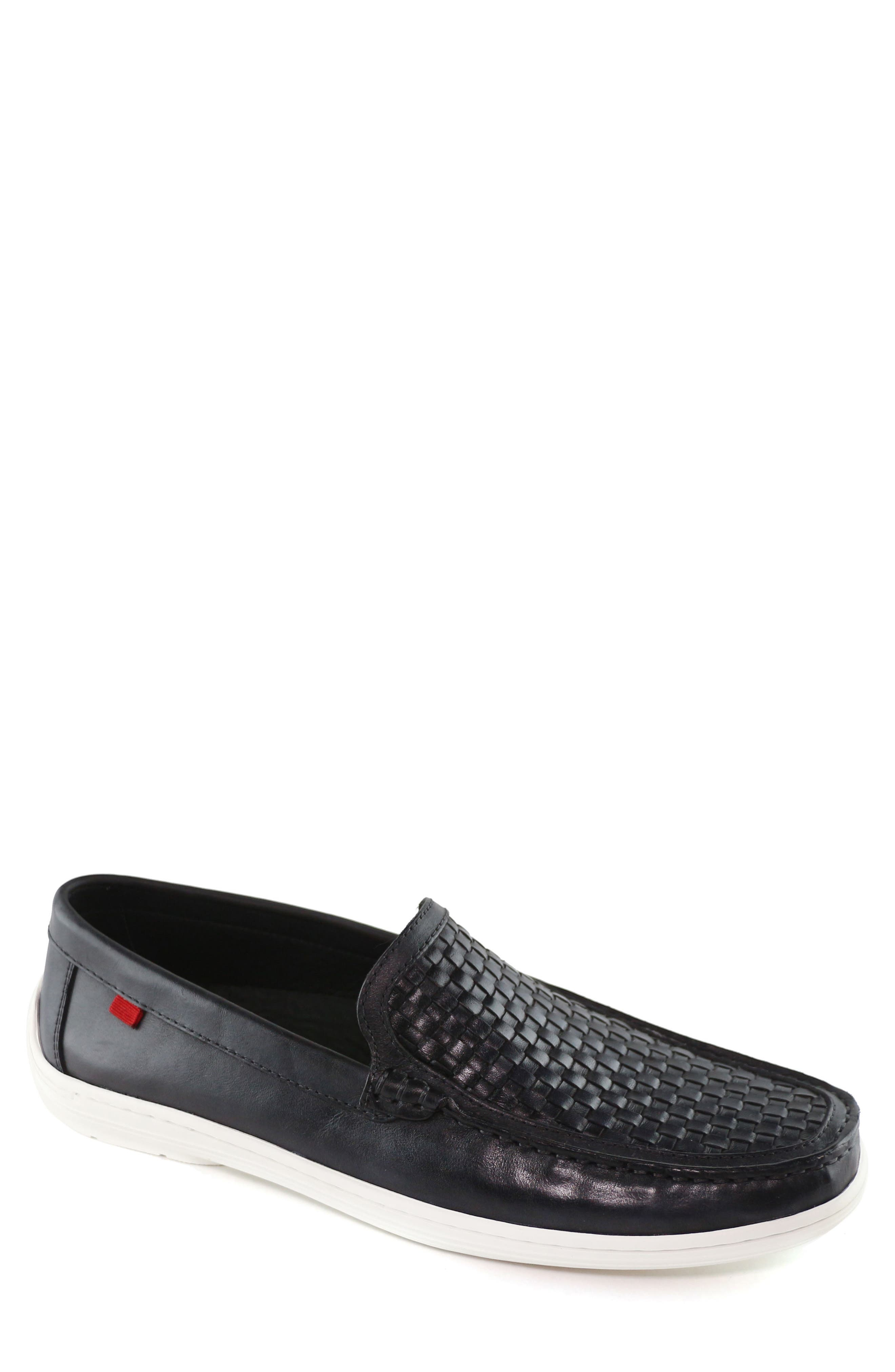 MARC JOSEPH NEW YORK, South Street Woven Driving Loafer, Main thumbnail 1, color, 001