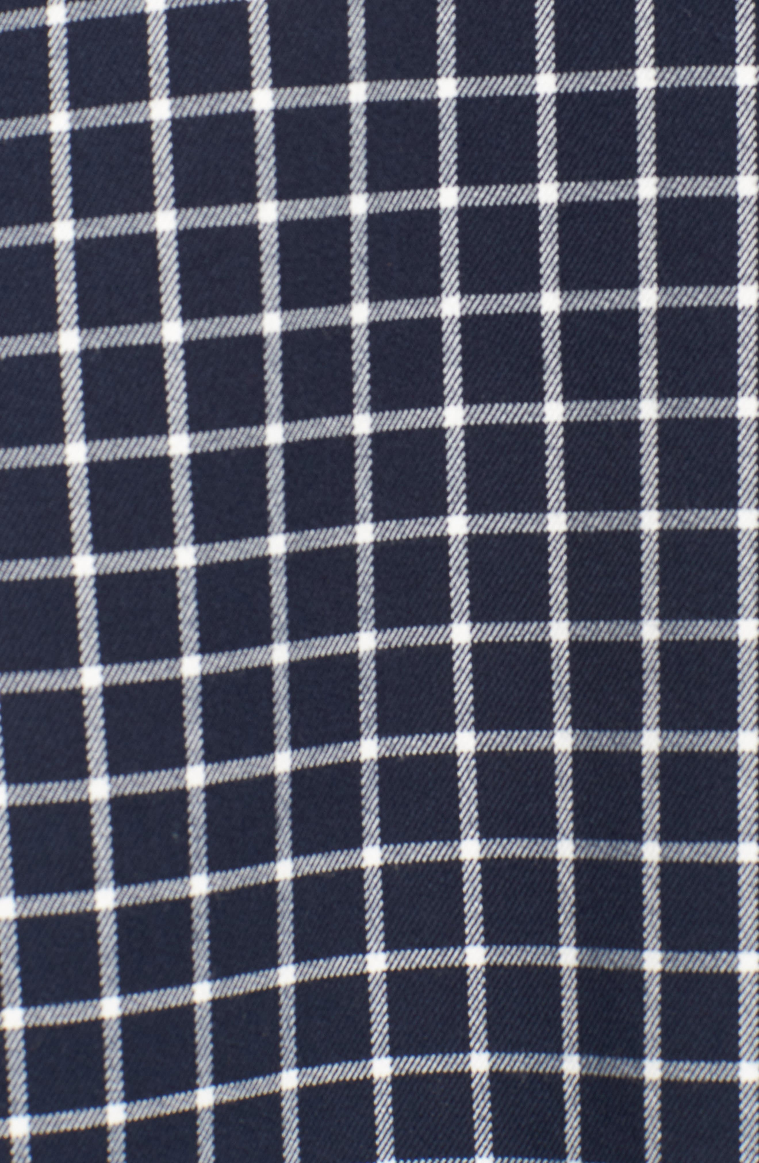 HALOGEN<SUP>®</SUP>, Double Breasted Check Blazer, Alternate thumbnail 7, color, NAVY CHECK