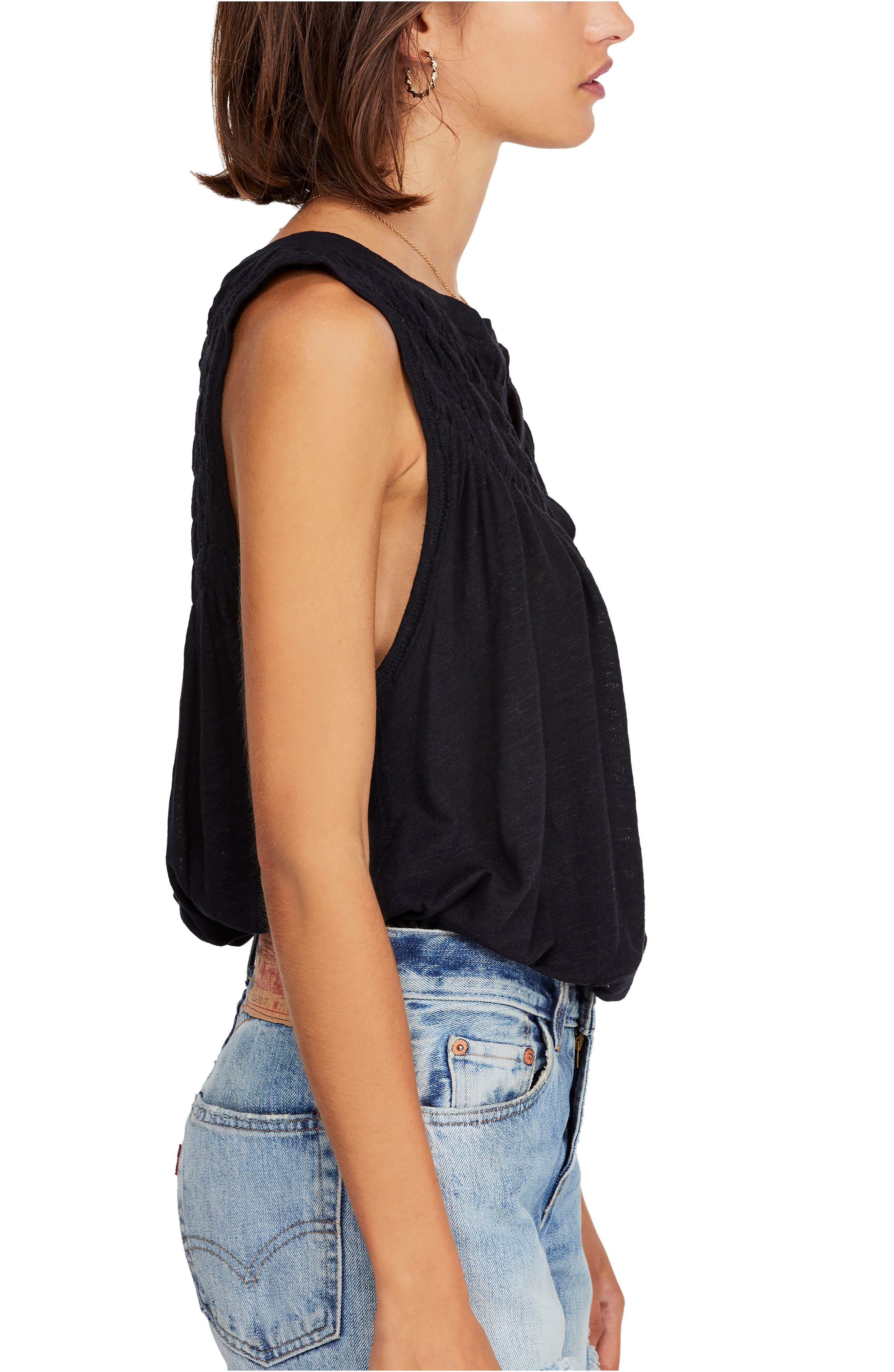 FREE PEOPLE, New to Town Tank, Alternate thumbnail 3, color, 001