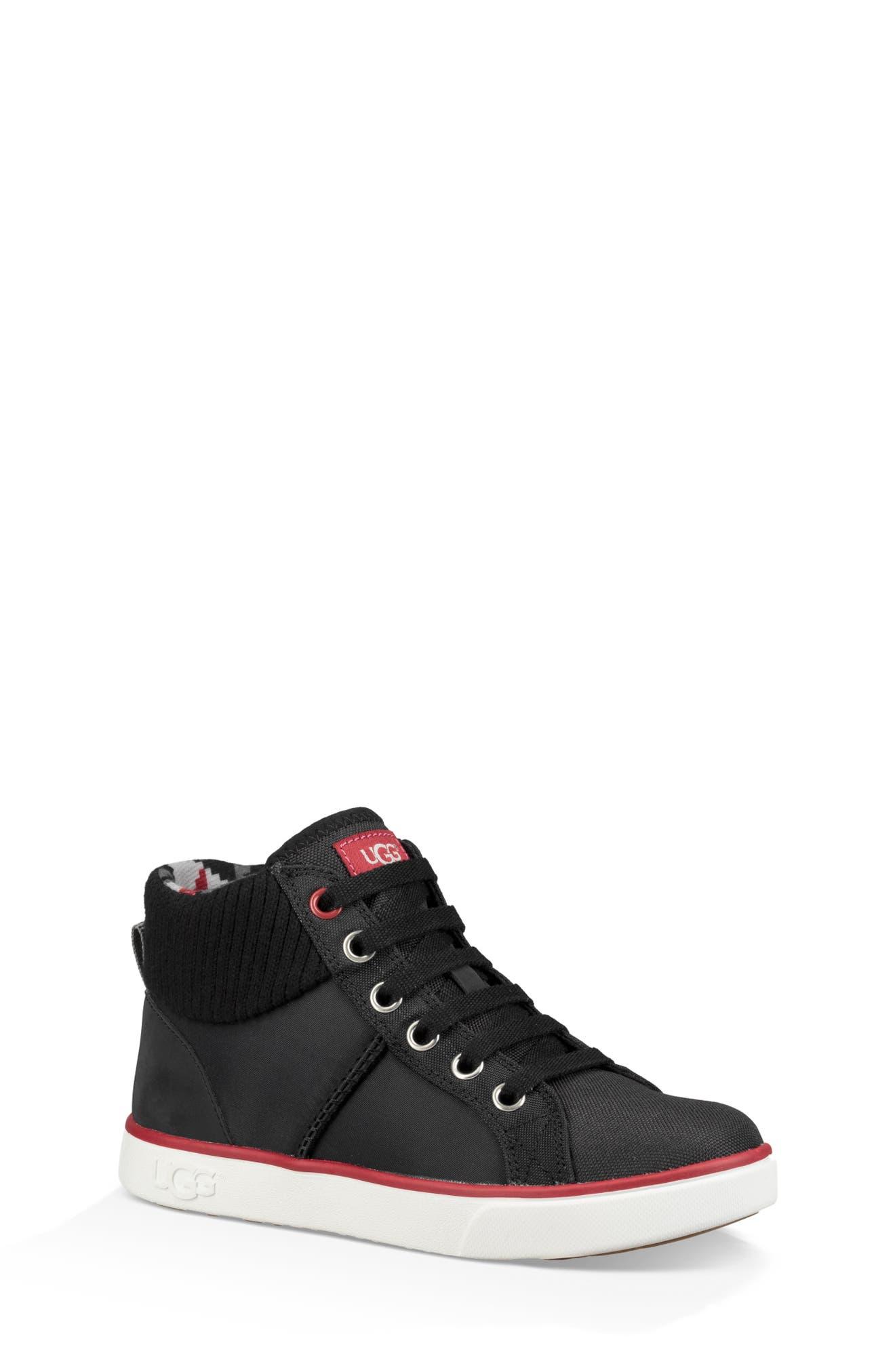 UGG<SUP>®</SUP>, Boscoe Sneaker, Main thumbnail 1, color, 001