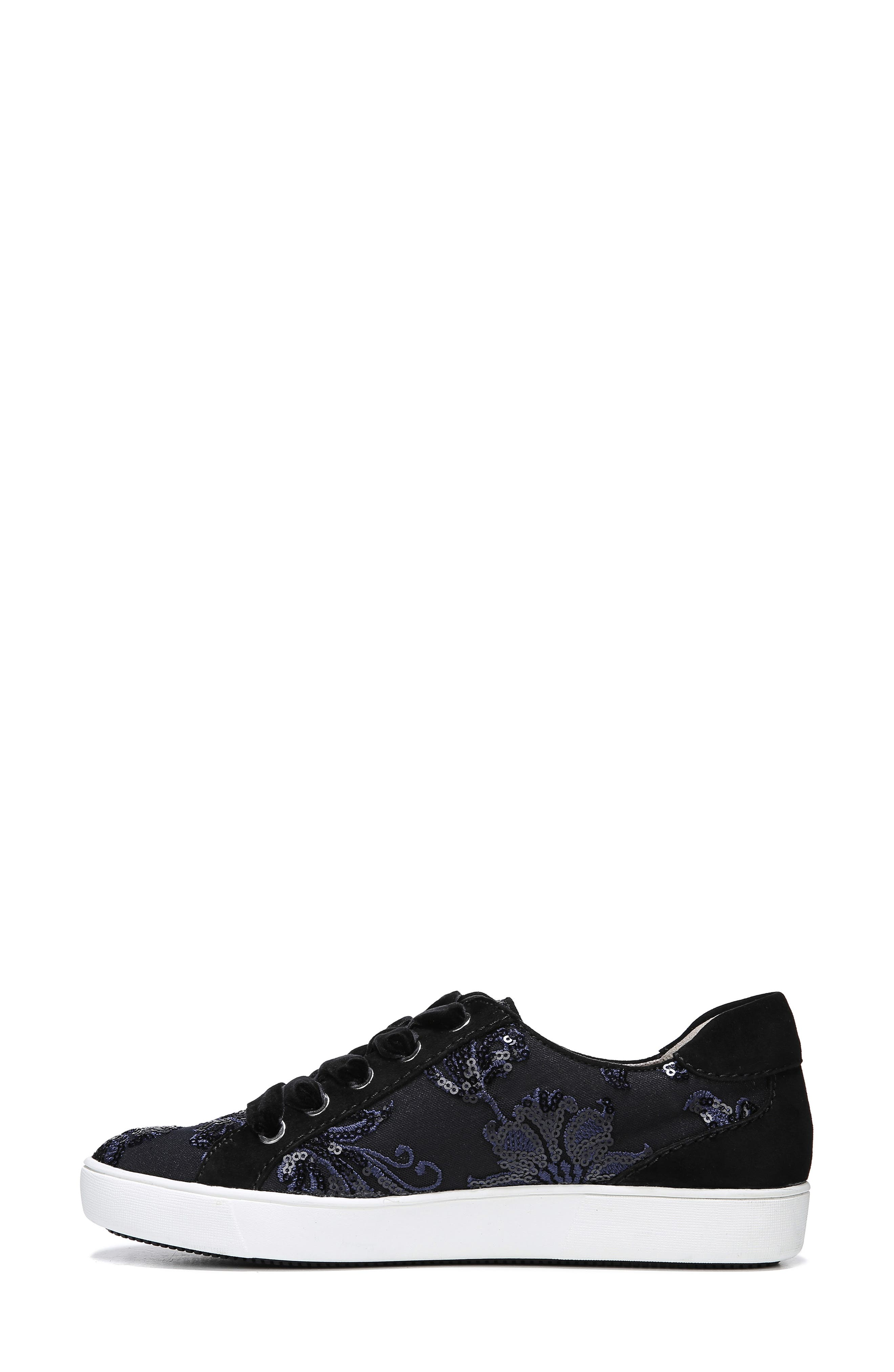 NATURALIZER, Morrison Sneaker, Alternate thumbnail 9, color, NAVY EMBROIDERED LACE