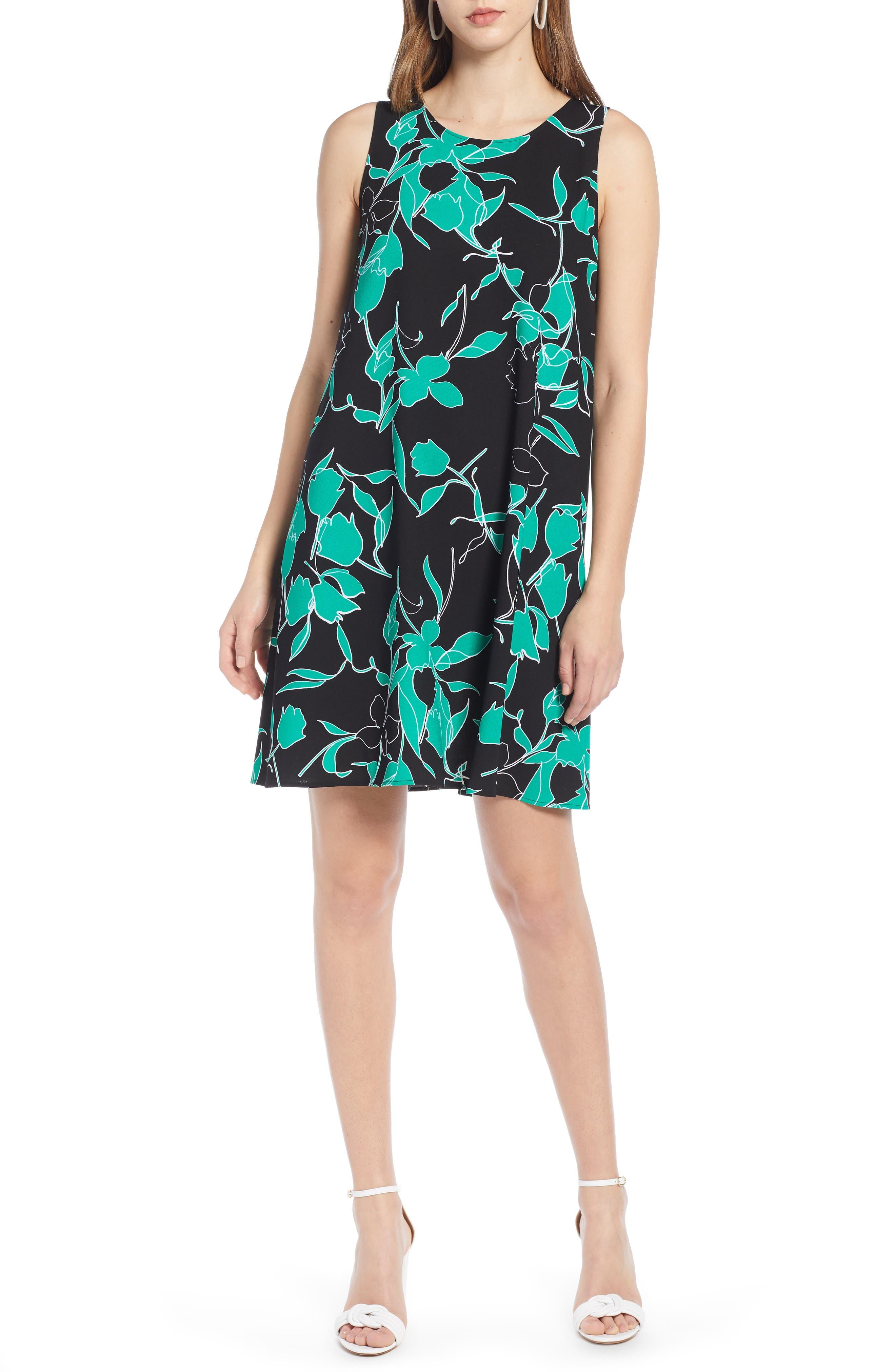 Halogen A-Line Dress, Black