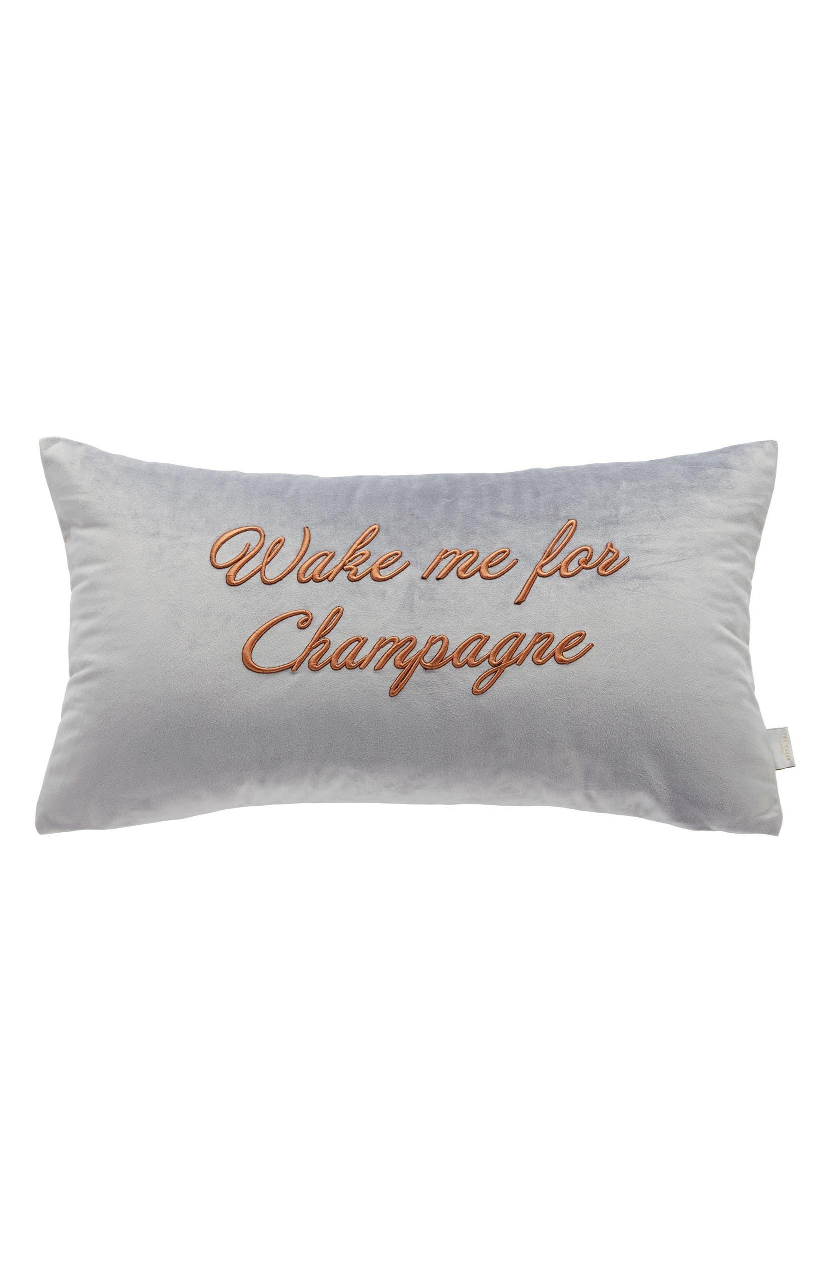 56f19d400 Ted Baker London Wake Me for Champagne Velvet Accent Pillow