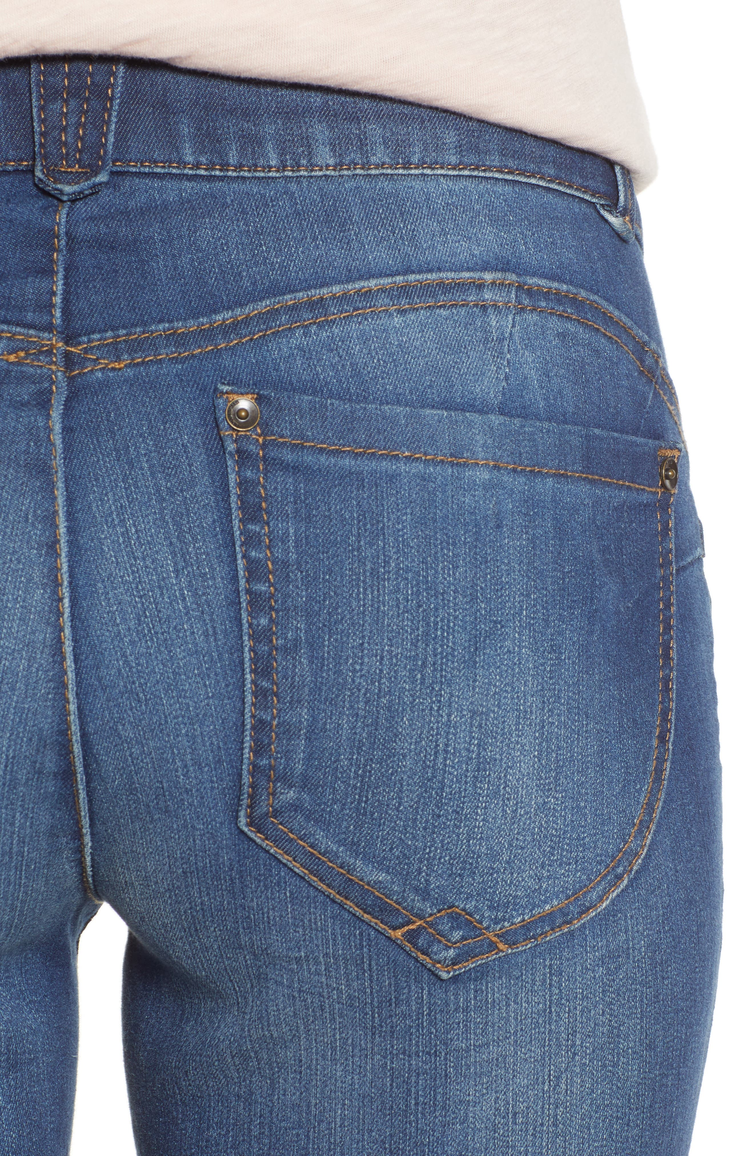 WIT & WISDOM, Ab-Solution Ankle Skimmer Jeans, Alternate thumbnail 5, color, BLUE