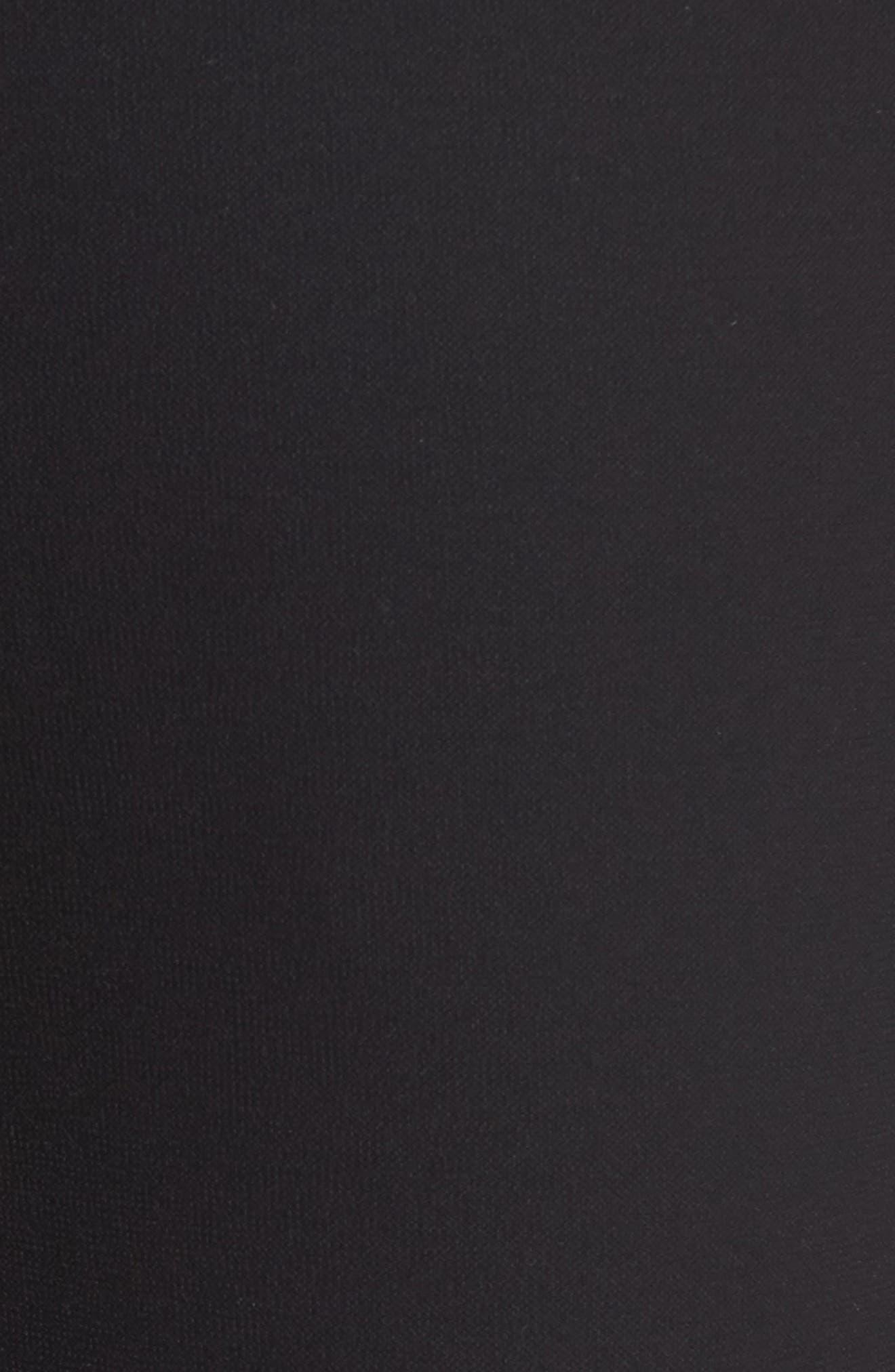 EILEEN FISHER, Straight Leg Pants, Alternate thumbnail 6, color, BLACK